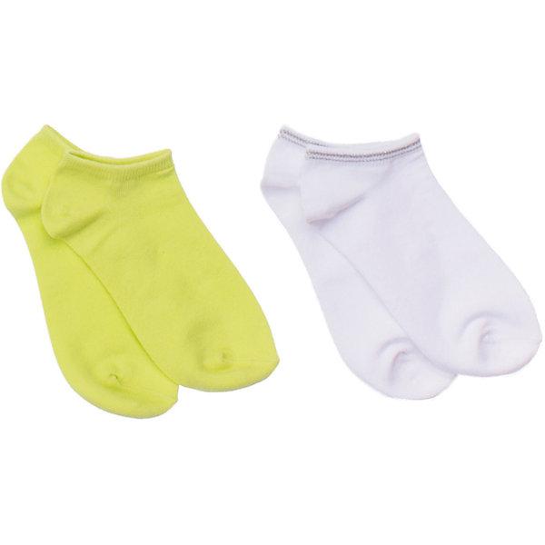Носки (2 шт.) ScoolНоски<br>Комплект из двух пар уютных носочков. Цвета - белый и лимонно-лаймовый. Состав: 75% хлопок, 22% нейлон, 3% эластан<br>Ширина мм: 87; Глубина мм: 10; Высота мм: 105; Вес г: 115; Цвет: разноцветный; Возраст от месяцев: 21; Возраст до месяцев: 24; Пол: Унисекс; Возраст: Детский; Размер: 24,20,22; SKU: 4652912;