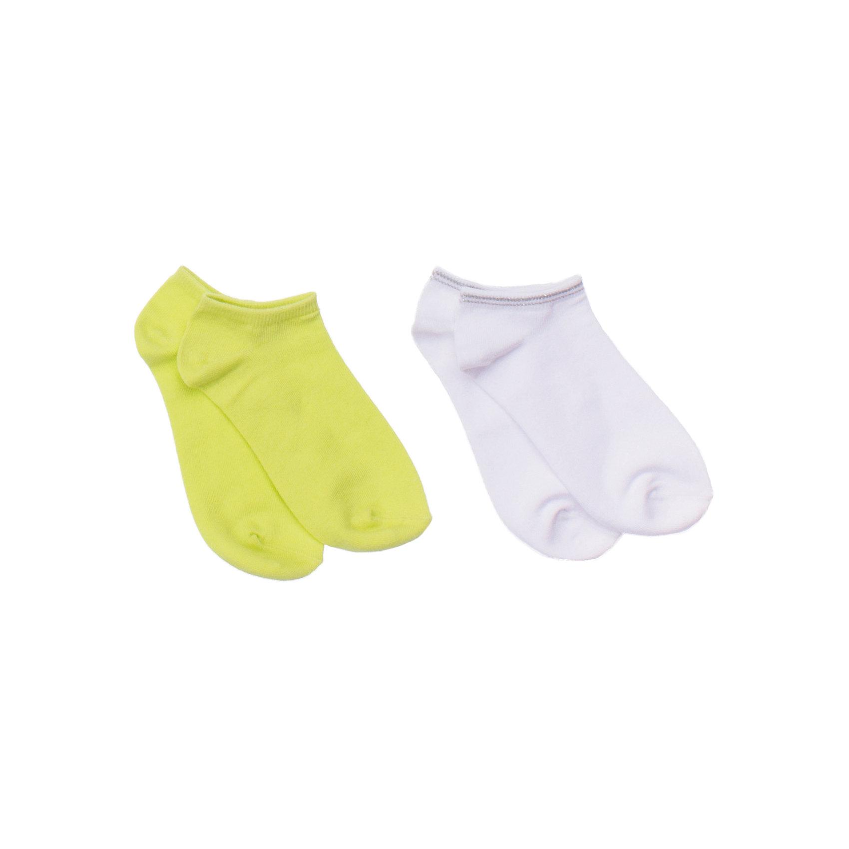 Носки (2 шт.) ScoolНоски<br>Комплект из двух пар уютных носочков. Цвета - белый и лимонно-лаймовый. Состав: 75% хлопок, 22% нейлон, 3% эластан<br><br>Ширина мм: 87<br>Глубина мм: 10<br>Высота мм: 105<br>Вес г: 115<br>Цвет: белый<br>Возраст от месяцев: 21<br>Возраст до месяцев: 24<br>Пол: Унисекс<br>Возраст: Детский<br>Размер: 24,20,22<br>SKU: 4652912