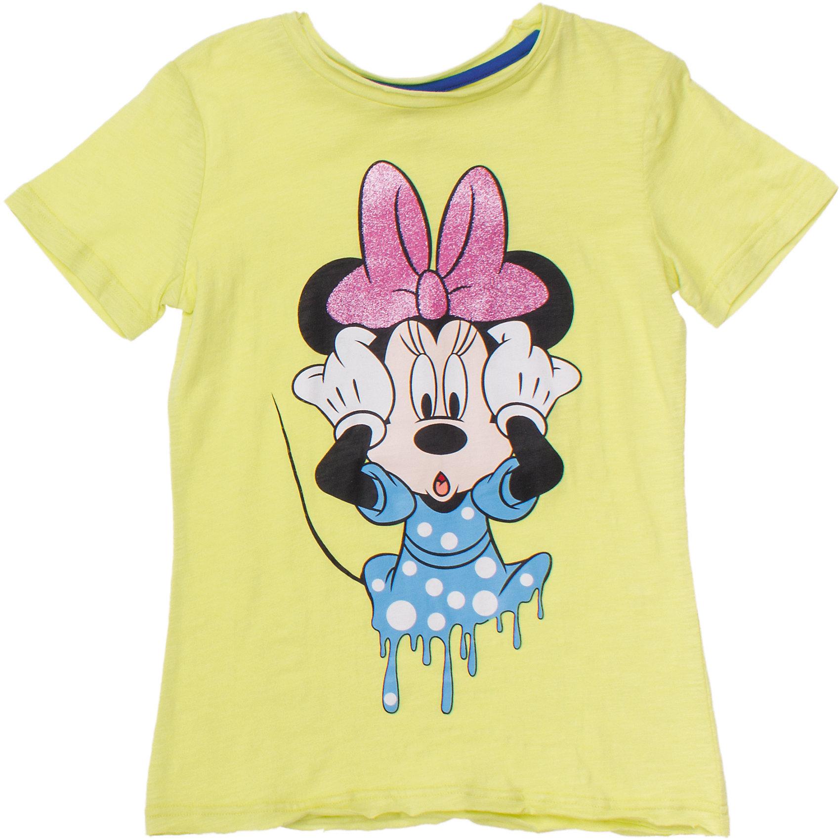 Футболка для девочки ScoolЛегкая хлопковая футболка лимонно-лаймового цвета. Украшена принтом с Минни-маус. Глиттерный бантик будет сверкать и переливаться на солнце. Состав: 100% хлопок<br><br>Ширина мм: 199<br>Глубина мм: 10<br>Высота мм: 161<br>Вес г: 151<br>Цвет: зеленый<br>Возраст от месяцев: 96<br>Возраст до месяцев: 108<br>Пол: Женский<br>Возраст: Детский<br>Размер: 134,158,140,146,152,164<br>SKU: 4652933
