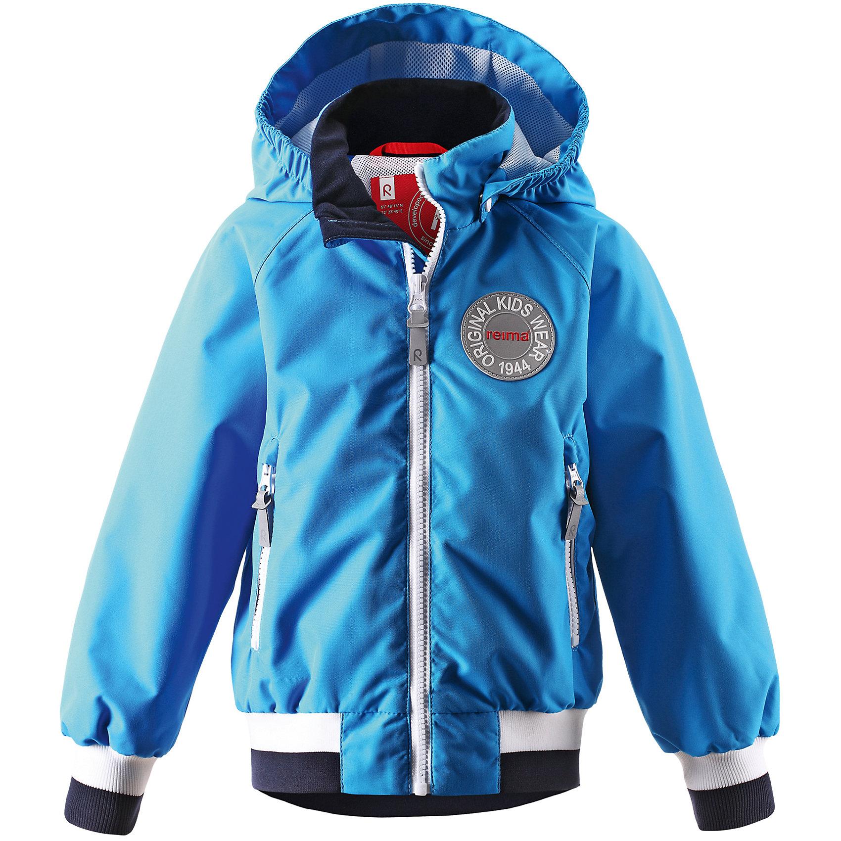 Куртка ReimaКуртка от финской марки Reima.<br>Куртка демисезонная для подростков. Основные швы проклеены и не пропускают влагу. Водоотталкивающий, ветронепроницаемый, «дышащий» и грязеотталкивающий материал. Подкладка из mesh-сетки. Безопасный, съемный капюшон. Приятная на ощупь резинка на манжетах и подоле. Два кармана на молнии. Безопасные светоотражающие детали.<br>Состав:<br>100% ПЭ, ПУ-покрытие<br><br>Ширина мм: 356<br>Глубина мм: 10<br>Высота мм: 245<br>Вес г: 519<br>Цвет: голубой<br>Возраст от месяцев: 96<br>Возраст до месяцев: 108<br>Пол: Унисекс<br>Возраст: Детский<br>Размер: 134,146,128,140,152<br>SKU: 4653218