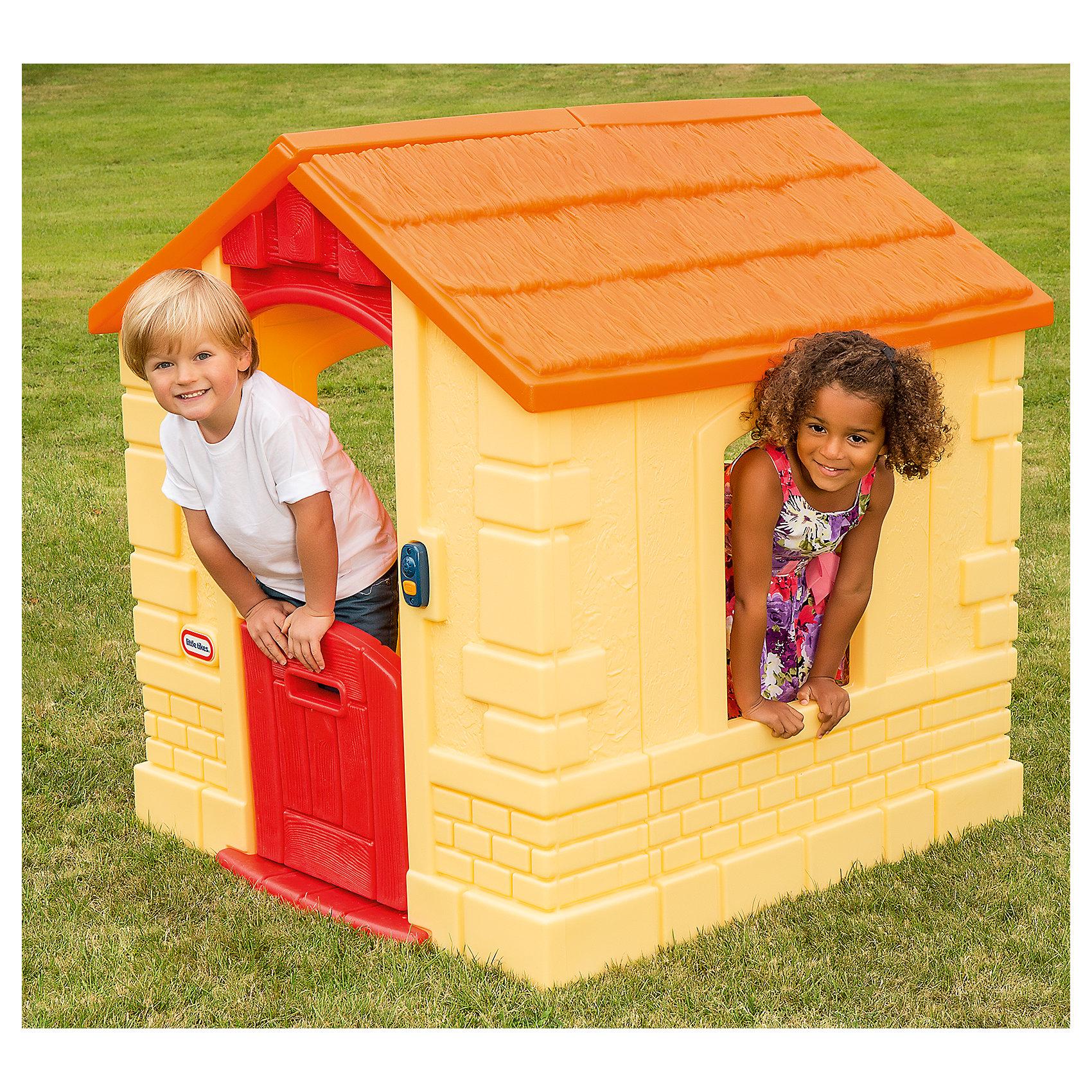 Игровой домик, Little TikesДомики и мебель<br>Оригинальный домик занимает совсем немного места, однако внутри он достаточно просторный. Выполнен в нежных натуральных цветах и изготовлен из прочного водостойкого пластика. Ваш ребенок будет играть в нем круглый год. Голландская дверь, дверной звонок и место для почтовых писем. Для детей о т 1,5-5 лет.<br><br>Ширина мм: 1336<br>Глубина мм: 112<br>Высота мм: 550<br>Вес г: 2895<br>Возраст от месяцев: 18<br>Возраст до месяцев: 72<br>Пол: Унисекс<br>Возраст: Детский<br>SKU: 4653312