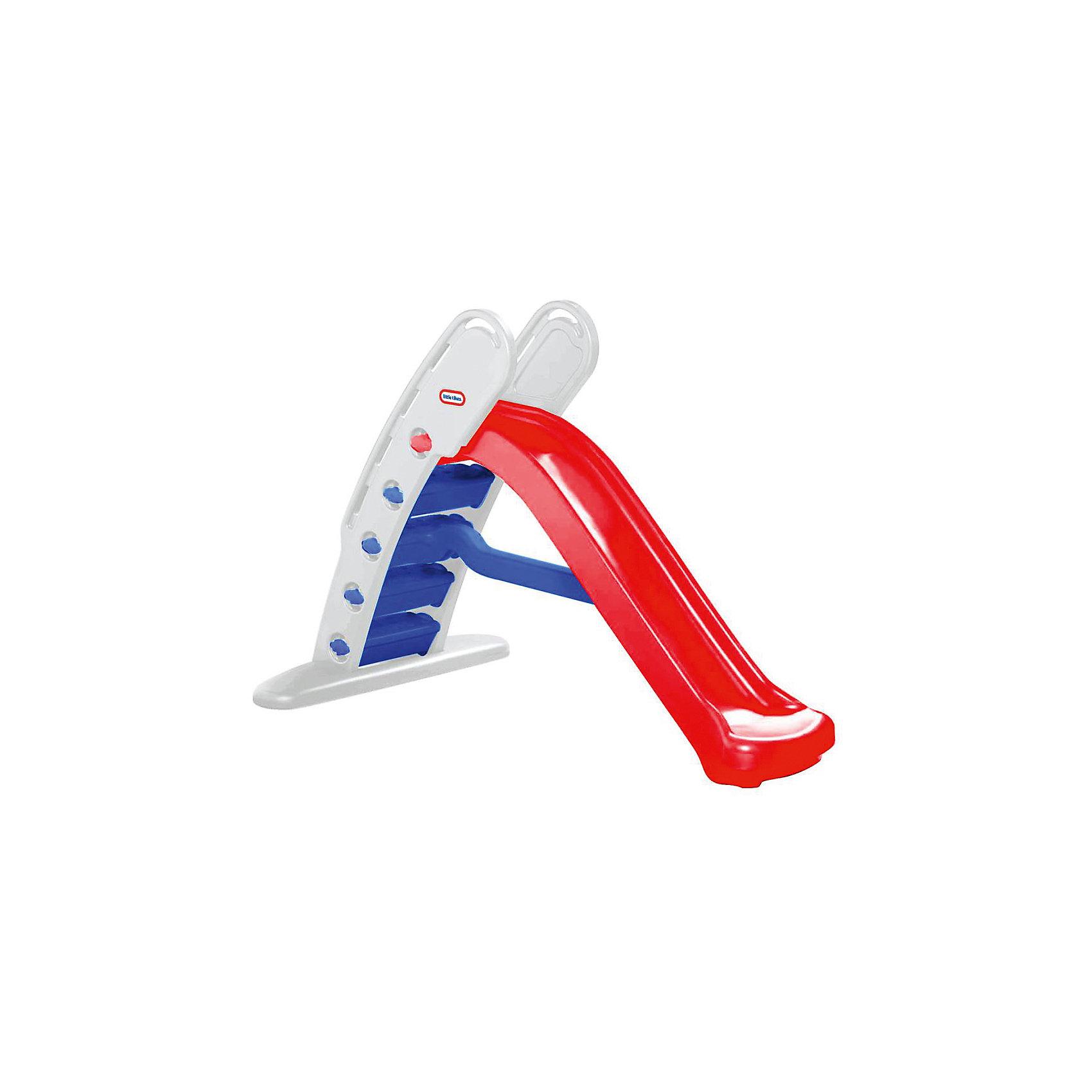 Горка складная, красно-синяя, Little TikesГорка идеально подходит для игры дома и на улице, легко складывается, что позволяет, при необходимости, убрать ее на некоторое время.  Широкие ступеньки, удобные поручни и скругленные углы - разработаны с учетом обеспечения безопасности детей. Горка предназначена для детей от 3-х лет<br>Размеры горки: 213 х 122 х 134 см (д, ш, в)<br>Размеры упаковки: 188 х 69 х 46<br>Длина поверхности скольжения: 180 см<br><br>Ширина мм: 1810<br>Глубина мм: 530<br>Высота мм: 400<br>Вес г: 17918<br>Возраст от месяцев: 36<br>Возраст до месяцев: 120<br>Пол: Унисекс<br>Возраст: Детский<br>SKU: 4653316