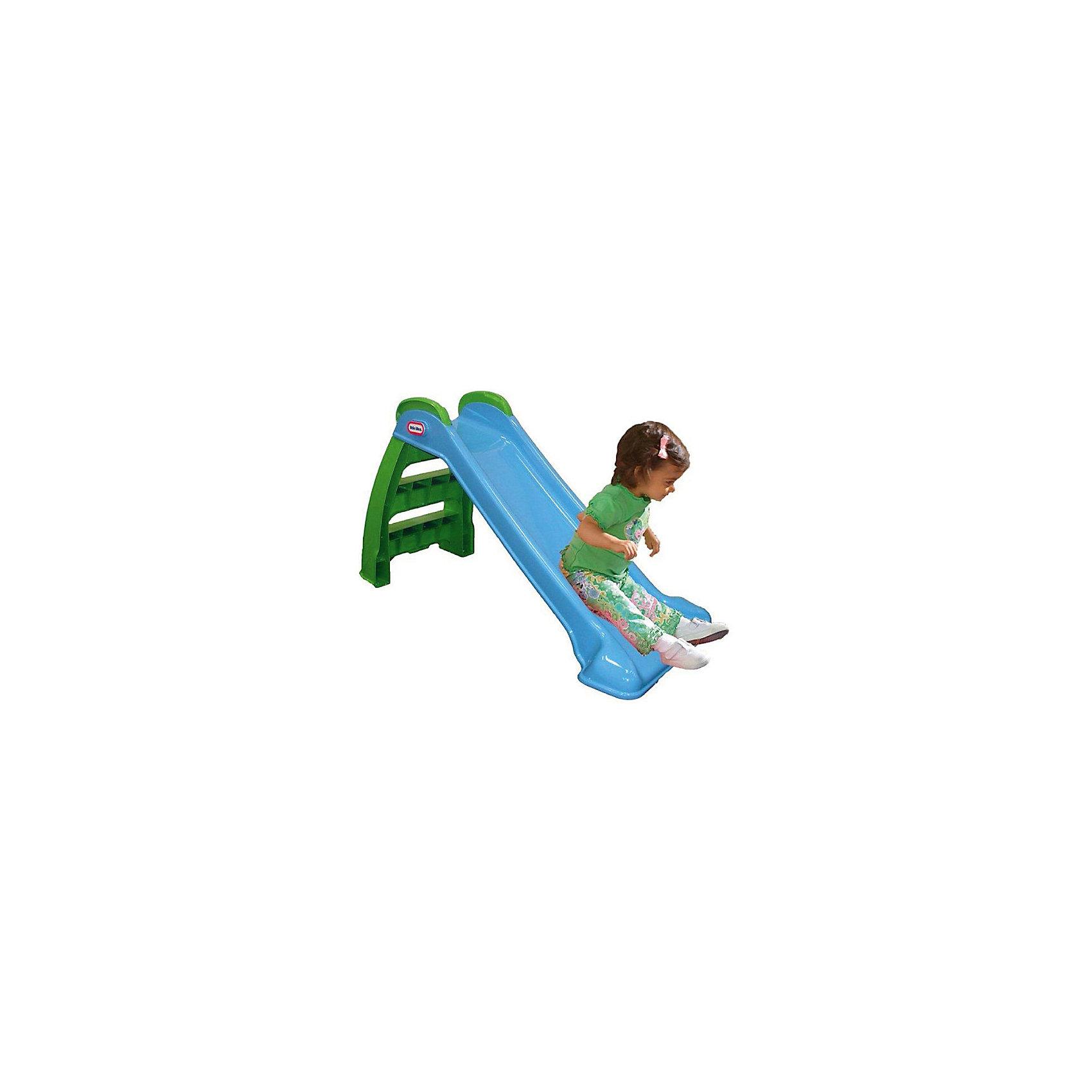 Горка складная, голубая, Little TikesГорки<br>Горка складная Little Tikes - замечательная яркая и устойчивая горка, которая порадует вашего малыша!   Горка подходит для использования на улице и в закрытых помещениях, имеет интересную складную конструкцию, удобные для детишек широкие ступеньки и безопасные ручки для комфортного подъёма по ступенькам.  Дополнительная информация:  - Возраст: от 2 до 6 лет. - Длина спуска: 117 см. - Размеры: 122 х 49 х 70 см. - Цвет: Зеленые ступеньки и поручни, синий спуск. - Легко складывать - удобно перевозить и хранить. - Удобные поручни. - Безопасная и легкая конструкция!  Эта горка станет отличным развлечением для вашего непоседы. Горка тренирует координацию и укрепляет ребенка, улучшает его физическую форму.<br><br>Ширина мм: 500<br>Глубина мм: 230<br>Высота мм: 1160<br>Вес г: 5100<br>Возраст от месяцев: 24<br>Возраст до месяцев: 60<br>Пол: Унисекс<br>Возраст: Детский<br>SKU: 4654350