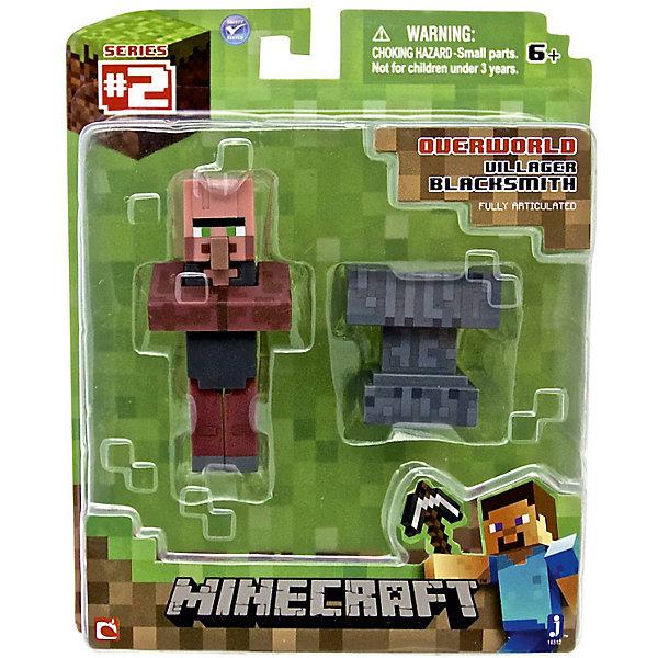 Игровой набор Деревенский житель, MinecraftИгровые наборы с фигурками<br>Игровой набор Деревенский житель, Minecraft – это прекрасный подарок для поклонника популярной игры Minecraft.<br>Игровой набор Деревенский житель приведет в восторг поклонников компьютерной игры Minecraft. Теперь ваш ребенок сможет отвлечься от компьютера или планшета, не отрываясь от любимой забавы! Выполненный из высококачественного пластика, комплект включает подвижную фигурку дружелюбного моба кузнеца и элемент фантастического мира - наковальню. У фигурки кузнеца вращается голова, и сгибаются ручки и ножки. Кузнец может держать в руках различные предметы. Фигурка прекрасно детализирована, реалистично раскрашена.<br><br>Дополнительная информация:<br><br>- В наборе: подвижная фигурка деревенского жителя (кузнеца), наковальня<br>- Размер фигурки кузнеца: 7,5х3,5х2 см.<br>- Материал: пластик<br>- Упаковка: блистер<br>- Размер упаковки: 14х17 см.<br><br>Игровой набор Деревенский житель, Minecraft можно купить в нашем интернет-магазине.<br><br>Ширина мм: 145<br>Глубина мм: 50<br>Высота мм: 175<br>Вес г: 100<br>Возраст от месяцев: 72<br>Возраст до месяцев: 144<br>Пол: Унисекс<br>Возраст: Детский<br>SKU: 4655078