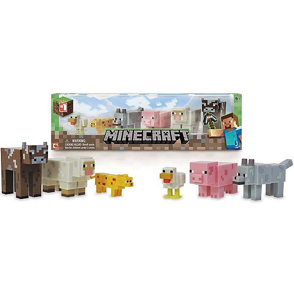 Игровой набор Живтоные, MinecraftКоллекционные фигурки<br>Игровой набор Животные, Minecraft – это прекрасный подарок для поклонника популярной игры Minecraft.<br>Игровой набор Животные приведет в восторг поклонников компьютерной игры Minecraft. Теперь ваш ребенок сможет отвлечься от компьютера или планшета, не отрываясь от любимой забавы! Животные в игре «Майнкрафт» - это источник ценных ресурсов и вообще повод извлечь для себя какую-нибудь пользу. Хотя некоторых зверей, определенно, стоит сторониться. В игровом наборе по мотивам знаменитой игры Minecraft содержатся 6 стилизованных фигурок животных в фирменном и уникальном пикселизированном стиле. Фигурки созданы из качественного пластика, их очень приятно держать в руках, их головы и конечности подвижные. Фигурки прекрасно детализированы, реалистично раскрашены, очень похожи на персонажей компьютерной игры.<br><br>Дополнительная информация:<br><br>- В наборе подвижные фигурки: курица, оцелот, ручной волк, свинья, овца, корова<br>- Материал: пластик<br>- Размер упаковки: 14,5х5х17,5см.<br><br>Игровой набор Животные, Minecraft можно купить в нашем интернет-магазине.<br><br>Ширина мм: 145<br>Глубина мм: 50<br>Высота мм: 175<br>Вес г: 225<br>Возраст от месяцев: 72<br>Возраст до месяцев: 144<br>Пол: Унисекс<br>Возраст: Детский<br>SKU: 4655080