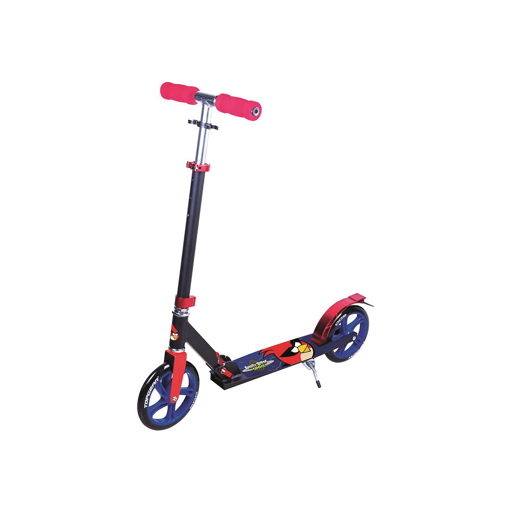 Самокат Angry Birds, Top GearДвухколесный самокат с ярким дизайном и популярной лицензией ANGRY BIRDS (Энгри Бердс) c большими колесами для мальчиков и девочек. <br><br>Дополнительная информация:<br><br>Выдерживает нагрузку до 100 кг. <br>2-колеса<br>Рама: алюминий<br>Колеса: полиуретановые диаметром 200мм<br>подножка, тормоз, <br>Размер самоката:  92 х 11 х 102 см<br><br>Самокат Angry Birds, Top Gear можно купить в нашем магазине.<br><br>Ширина мм: 780<br>Глубина мм: 130<br>Высота мм: 220<br>Вес г: 4635<br>Возраст от месяцев: 60<br>Возраст до месяцев: 120<br>Пол: Унисекс<br>Возраст: Детский<br>SKU: 4655088