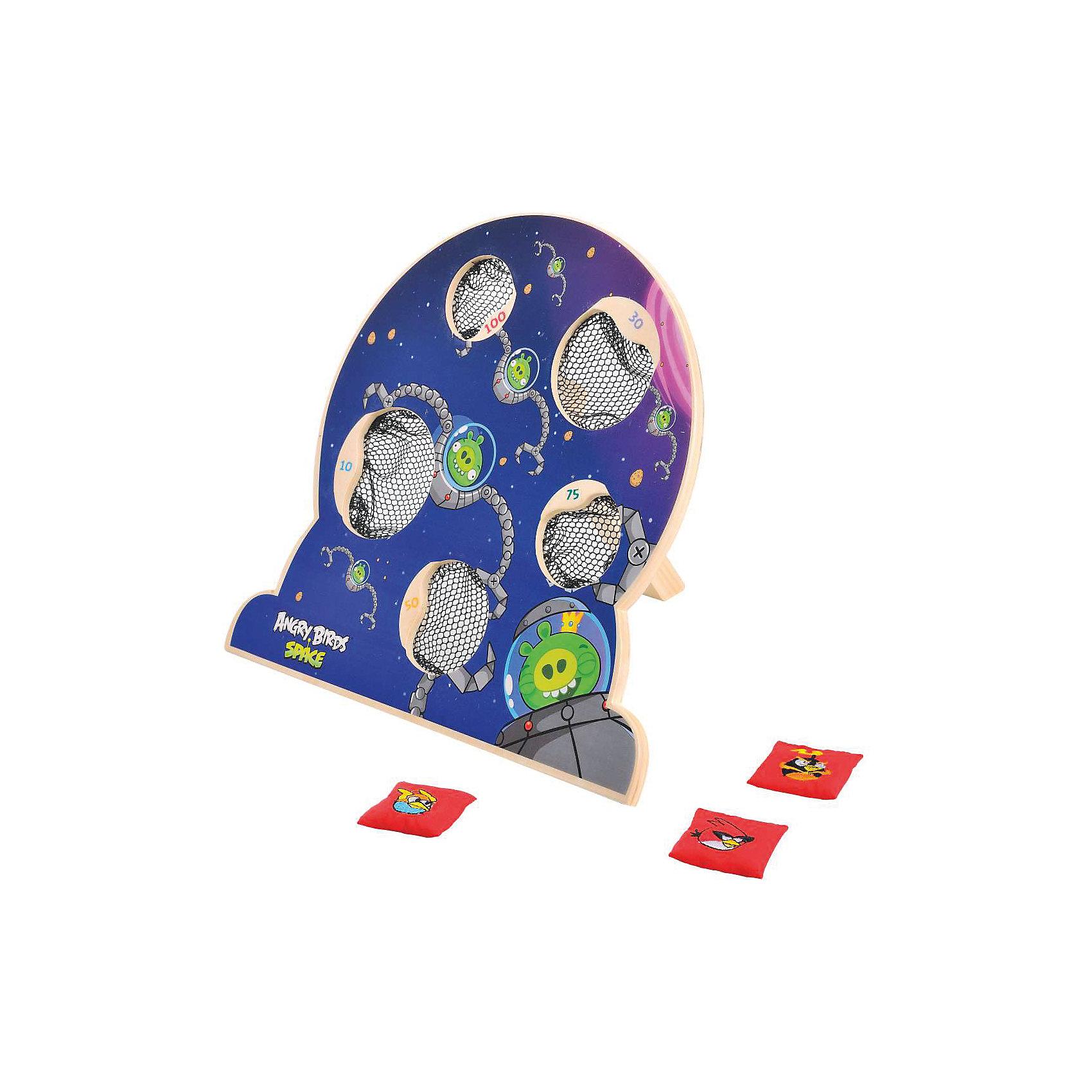 Деревянная игра Angry Birds, 1ToyДеревянная игра Angry Birds, 1Toy – это веселая игра по мотивам популярной компьютерной игры.<br>Настольная игра, изготовленная по лицензии Angry Birds Space, это увлекательное соревнование для вашего ребенка и его друзей. На деревянном щитке обозначены 5 мишеней разного размера с сетками-ловушками, в которые нужно забрасывать мешочки с изображениями знаменитых птиц. На коробке есть более подробная инструкция, как играть. Игра развивает физическую силу, целеустремленность, силу воли, коммуникабельность.<br><br>Дополнительная информация:<br><br>- В наборе: щиток на подставке с 5 сетками, мешочки с гранулами 5 штук<br>- Материал: древесина, текстиль<br>- Размер щитка: 31,5 х 8 х 29 см.<br>- Размер мешочков: 4 х 4 х 6 см.<br>- Размер упаковки: 32,5х8х30 см.<br>- Вес в упаковке: 917 гр.<br><br>Деревянную игру Angry Birds, 1Toy можно купить в нашем интернет-магазине.<br><br>Ширина мм: 325<br>Глубина мм: 80<br>Высота мм: 300<br>Вес г: 917<br>Возраст от месяцев: 48<br>Возраст до месяцев: 120<br>Пол: Унисекс<br>Возраст: Детский<br>SKU: 4655095