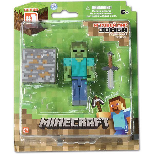 Игровой набор Зомби, MinecraftКоллекционные и игровые фигурки<br>Игровой набор Зомби, Minecraft – это прекрасный подарок для поклонника популярной игры Minecraft.<br>Игровой набор Зомби приведет в восторг поклонников компьютерной игры Minecraft. Теперь ваш ребенок сможет отвлечься от компьютера или планшета, не отрываясь от любимой забавы! Выполненный из высококачественного пластика, комплект включает подвижную фигурку враждебного моба Зомби, а также элементы фантастического мира – пиксельный куб камня, меч. У фигурки Зомби вращается голова, и сгибаются ручки и ножки. Зомби может держать в руках различные предметы. Фигурка прекрасно детализирована, реалистично раскрашена, очень похожа на персонажа компьютерной игры.<br><br>Дополнительная информация:<br><br>- В наборе: подвижная фигурка Зомби, куб, меч<br>- Размер фигурки: 7 х 3,5 х 2 см.<br>- Материал: пластик<br>- Упаковка: блистер<br>- Размер упаковки: 14х17 см.<br><br>Игровой набор Зомби, Minecraft можно купить в нашем интернет-магазине.<br><br>Ширина мм: 180<br>Глубина мм: 145<br>Высота мм: 50<br>Вес г: 100<br>Возраст от месяцев: 72<br>Возраст до месяцев: 144<br>Пол: Унисекс<br>Возраст: Детский<br>SKU: 4655102