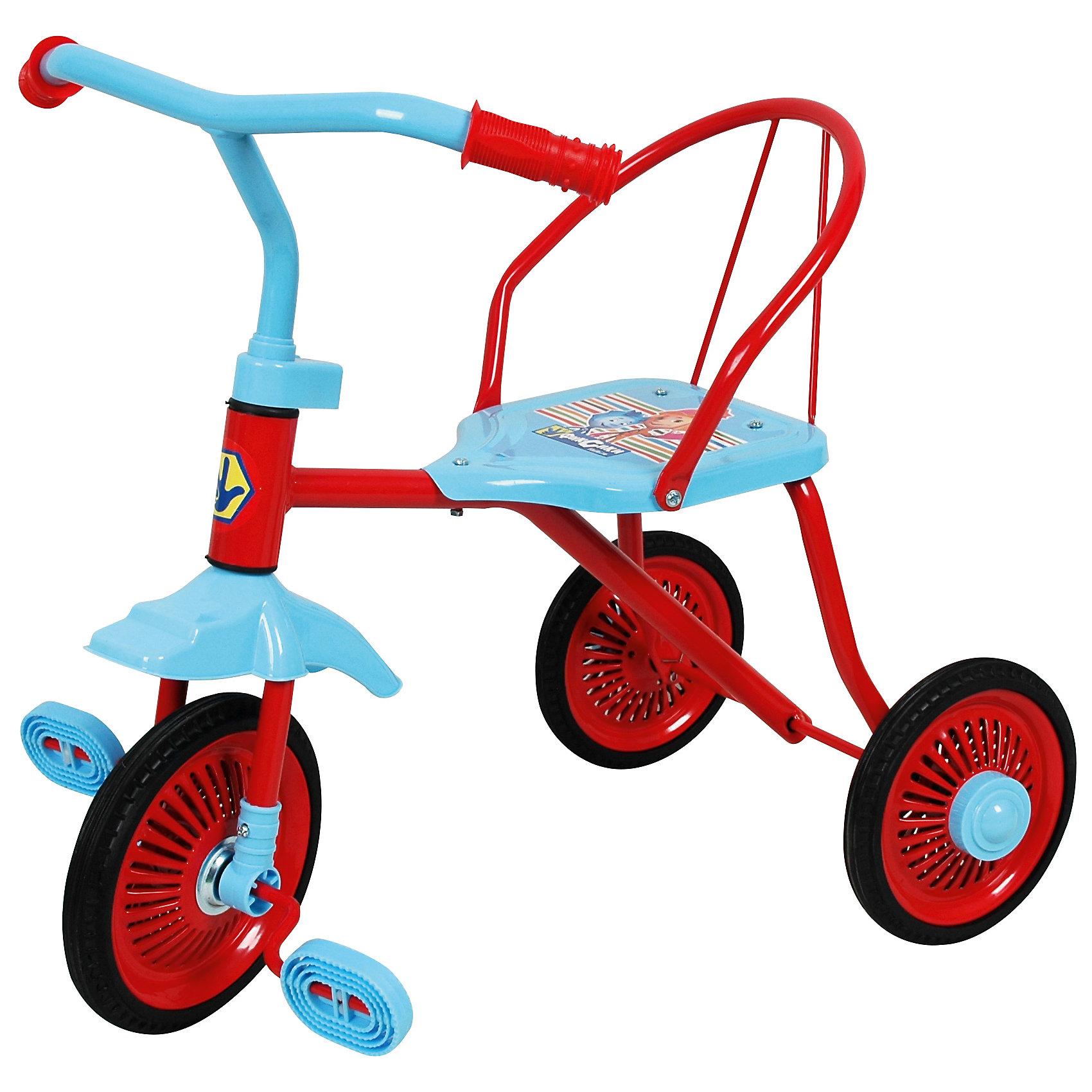 Велосипед трехколесный Фиксики, 1ToyВелосипед трехколесный Фиксики, 1Toy – это замечательный, яркий и необычный велосипед для активных малышей.<br>Трехколесный велосипед Фиксики 1Toy – это лёгкий детский велосипед для малышей, украшенный изображением персонажей популярного детского мультсериала Фиксики. Он станет отличным спутником вашего малыша на летний период и будет способствовать развитию координации движений и ловкости. С таким велосипедом прогулки на улице станут еще интереснее и веселее. Модель снабжена трехколесным шасси, что гарантирует отличную устойчивость при передвижении по твердым и неровным поверхностям. Также конструкцией велосипеда предусмотрено сиденье со спинкой.<br><br>Дополнительная информация:<br><br>- Возраст: от 1,5 лет<br>- Максимальный вес ребенка: 20 кг.<br>- Для детей ростом от 80-85 см.<br>- Размер: 55х58х62 см.<br>- Высота руля: 62 см.<br>- Высота сиденья: 30 см.<br>- Высота спинки: 20 см.<br>- Облегчённая металлическая рама<br>- Диаметр колес: переднее 9 дюймов, задние 8 дюймов<br>- Материал: металл, пластик<br>- Размеры упаковки: 80,5 x 17 x 36,5 см.<br>- Вес: 3 кг.<br><br>Велосипед трехколесный Фиксики, 1Toy можно купить в нашем интернет-магазине.<br><br>Ширина мм: 805<br>Глубина мм: 170<br>Высота мм: 365<br>Вес г: 3167<br>Возраст от месяцев: 180<br>Возраст до месяцев: 72<br>Пол: Унисекс<br>Возраст: Детский<br>SKU: 4655131
