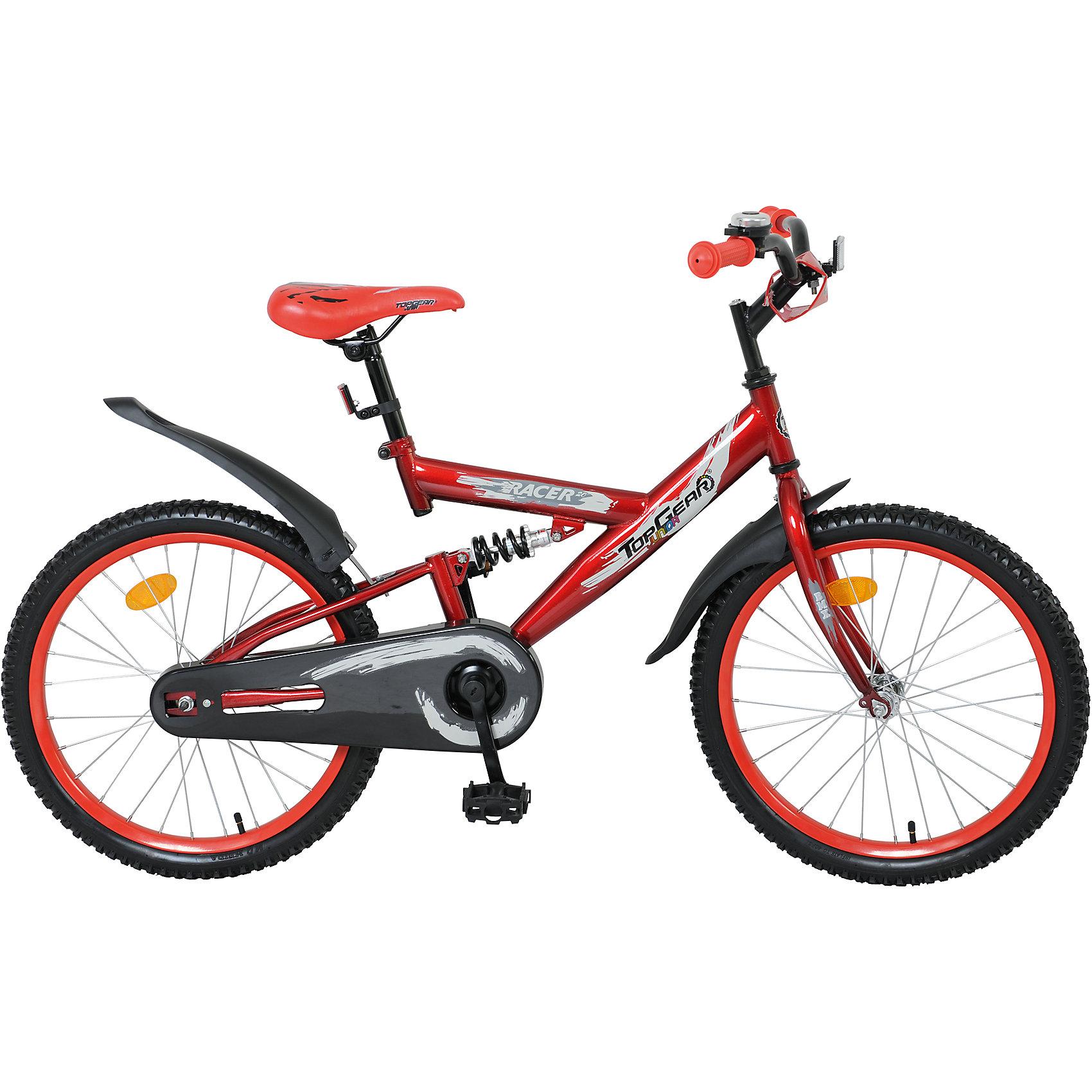 Велосипед Junior Racer, красный, Top GearВелосипеды детские<br>Велосипед Junior Racer, красный, Top Gear (Топ Гир) - это взрослое качество и характеристики в детском велосипеде!<br>Top Gear Junior - коллекция люксового сегмента, велосипеды взрослого качества и конструкции - специально для детей. Продукция Top Gear Junior обладает всеми улучшенными характеристиками Navigator, а также своими уникальными особенностями. Велосипеды выгодно выделяются, благодаря яркому цветному дизайну седла и вставок в колёса и разнообразным дополнительным аксессуарам. Велосипед Junior Racer имеет двухподвесную амортизационную раму, еврокаретку и полную защиту цепи, что делает его надежным и комфортным. Ручки велосипеда покрыты нескользящими накладками. Сидение мягкое, эргономичное, регулируется по высоте. Педали имеют противоскользящую рифленую поверхность. Комплектуется выдвижной подножкой, звонком, светоотражателями. Надежный и функциональный велосипед Junior Racer одинаково подойдет и для прогулок по городу, и для езды по пересеченной местности.<br><br>Дополнительная информация:<br><br>- Велосипед предназначен для детей от 7 до 14 лет<br>- Подходит для детей ростом 120 - 145 см<br>- Тип велосипеда: горный<br>- Конструкция вилки: жесткая<br>- Модель универсальна, предназначена для девочек и мальчиков<br>- Диаметр колес: 20 дюймов<br>- Цвет: красный<br>- Материал рамы: сталь<br>- Материал руля: сталь<br>- Вес в упаковке: 12,7 кг.<br><br>Велосипед Junior Racer, красный, Top Gear (Топ Гир) можно купить в нашем интернет-магазине.<br><br>Ширина мм: 1080<br>Глубина мм: 165<br>Высота мм: 510<br>Вес г: 12700<br>Возраст от месяцев: 60<br>Возраст до месяцев: 120<br>Пол: Унисекс<br>Возраст: Детский<br>SKU: 4655139