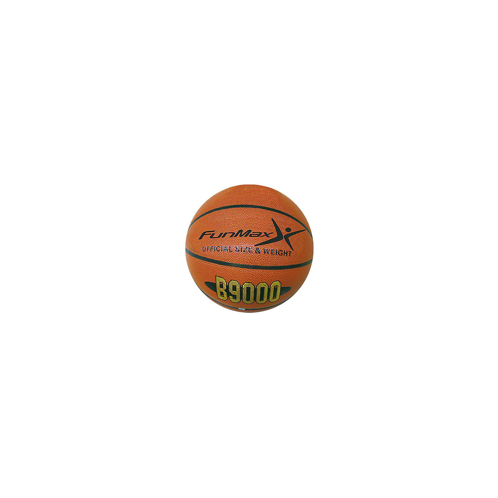 Баскетбольный мяч, FunMaxБаскетбольный мяч, FunMax - этот классический баскетбольный мяч станет прекрасным подарком для вашего мальчика.<br>Баскетбольный мяч, FunMax в комплекте с сеткой предназначен для активных спортивных игр. Мяч имеет размер 7, что является официальным размером мяча для мужского баскетбола. Размер мяча - 7, означает, что он самый крупный из линейки баскетбольных мячей. Мяч обладает привычным для баскетболистов весом 580 грамм, хорошей прыгучестью и прочностью, а также шероховатой поверхностью, которая не дает выскользнуть мячику из рук во время дриблинга. В общем, у него есть все, чтобы успешно приобщить юного спортсмена к одной из самых популярных командных игр в мире.<br><br>Дополнительная информация:<br><br>- Цвет: коричневый, черный<br>- Материал: ПВХ<br>- Упаковка: пакет<br>- Размер: 7<br>- Вес: 580 гр.<br><br>Баскетбольный мяч, FunMax можно купить в нашем интернет-магазине.<br><br>Ширина мм: 150<br>Глубина мм: 150<br>Высота мм: 100<br>Вес г: 696<br>Возраст от месяцев: 60<br>Возраст до месяцев: 120<br>Пол: Унисекс<br>Возраст: Детский<br>SKU: 4655157