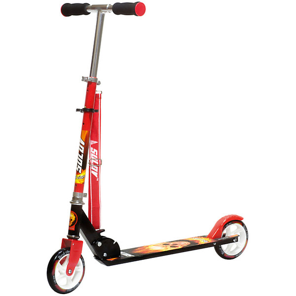 Самокат Rider, черный, SulovСамокаты<br>Складной самокат Emo 145-5 от чешской марки Sulov<br><br>Стильный легкий самокат - мечта большинства детей на это лето. Он позволит не только отлично проводить время, но и поддерживать здоровую физическую форму. Эта модель выполнена в стильной расцветке: черный и красный тона. <br>Тщательно проработанный складной механизм позволяет за секунды собрать или разложить самокат. Нога ребенка располагается на противоскользящей поверхности, что обеспечивает безопасность езды на самокате. Не забудьте обеспечить ребенка налокотниками и наколенниками. Выполненные в стильном дизайне, они станут отличным элементом модного образа ребенка.<br><br>Отличительные особенности модели:<br><br>складной механизм;<br>нескользящая поверхность;<br>материал рамы и руля: алюминиевый сплав;<br>цвет: черный, красный;<br>материал колес: полиуретан;<br>максимальная нагрузка: 100 кг;<br>диаметр колес: 145 мм;<br>размер деки 48 х 10.8 см;<br>подшипники: ABEC 7;<br>максимальная нагрузка: 100 кг.<br><br>Самокат  Emo 145-5 от марки Sulov можно купить в нашем магазине.<br>Ширина мм: 750; Глубина мм: 300; Высота мм: 120; Вес г: 2800; Возраст от месяцев: 72; Возраст до месяцев: 108; Пол: Мужской; Возраст: Детский; SKU: 4657047;