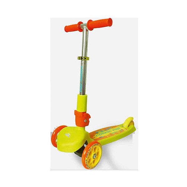 Самокат TT Cosmic pro, салатовыйСамокаты<br>Самокат TT Cosmic pro 1/4 оранжевый от марки Tech Team<br><br>Удобный яркий самокат - мечта большинства детей на это лето. Он позволит не только отлично проводить время, но и поддерживать здоровую физическую форму. Эта модель выполнена в яркой расцветке: желтый и оранжевый тона. <br>Тщательно проработанный выдвижной механизм руля позволяет за секунды подстроить его под ребенка. Нога располагается на удобной поверхности, что обеспечивает безопасность езды на самокате. Не забудьте обеспечить ребенка налокотниками и наколенниками. Выполненные в стильном дизайне, они станут отличным элементом модного образа ребенка.<br><br>Отличительные особенности модели:<br><br>складной механизм руля;<br>материал: ударостойкий пластик;<br>цвет: желтый, оранжевый;<br>размер платформы: 29,5 x 11 см;<br>материал ручки: алюминий;<br>размер передних колес: 120 х 24 мм;<br>размер заднего колеса: 100 х 24 мм;<br>подшипники: AВЕС 5 carbon.<br><br>Самокат TT Cosmic pro 1/4 оранжевый от марки Tech Team можно купить в нашем магазине.<br><br>Ширина мм: 590<br>Глубина мм: 290<br>Высота мм: 280<br>Вес г: 2500<br>Возраст от месяцев: 24<br>Возраст до месяцев: 48<br>Пол: Унисекс<br>Возраст: Детский<br>SKU: 4657066