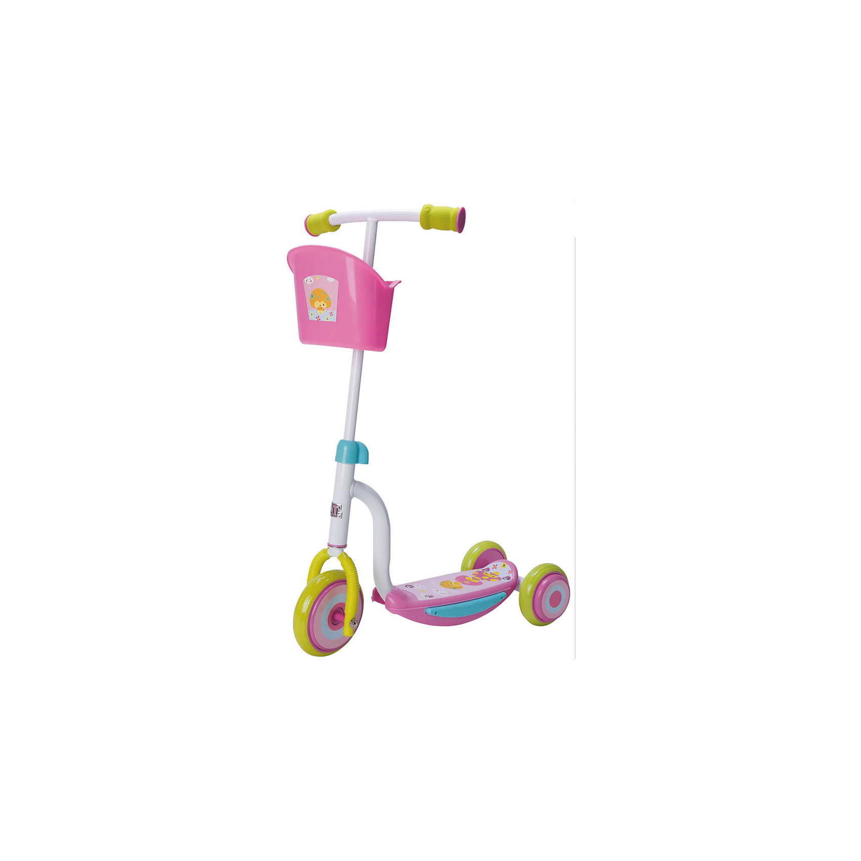 - Самокат ТТ Kids Scooter-2, розовый самокат tech team sky scooter blue