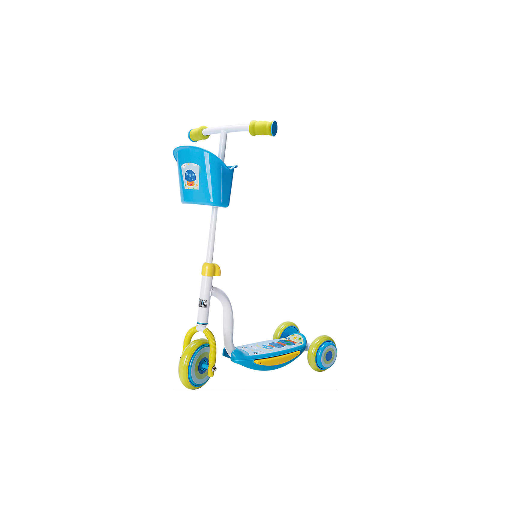 - Самокат ТТ Kids Scooter-2, голубой самокат tech team tt cosmic pink purple
