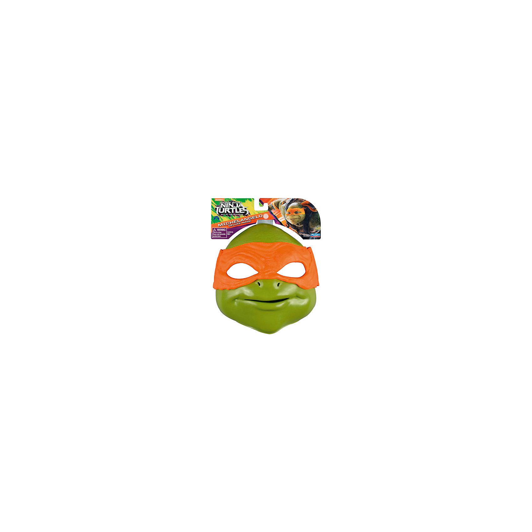Маска Микеланджело, Черепашки НиндзяЧерепашки Ниндзя<br>Маска Микеланджело, Черепашки Ниндзя, станет оригинальным подарком для всех юных поклонников популярного мультсериала Черепашки Ниндзя. Она прекрасно подойдет в качестве элемента карнавального костюма или как аксессуар для сюжетно-ролевых игр. Маска быстро перевоплотит Вашего ребенка в любимого героя - черепашку Микеланджело, который, несмотря на свой веселый нрав и легкомысленность, всегда готов прийти на помощь и спасти город от злодеев. Игрушка из прочного качественного пластика выполнена очень реалистично, все детали тщательно проработаны. В соответствии с особыми приметами героя мультика, глаза черепашки скрыты за повязкой оранжевого цвета. Маска имеет прорези для глаз и комфортно фиксируется с помощью эластичных ленточек с липучками, которые можно отрегулировать до<br>нужного размера. Изнутри оснащена удобной резиновой накладкой по контуру глаз и носа.<br><br>Дополнительная информация:<br><br>- Материал: пластик, резина, текстиль.<br>- Длина маски: 20 см.<br>- Размер упаковки: 20,3 х 7,6 х 24,1 см.<br>- Вес: 0,263 кг.<br><br>Маску Микеланджело, Черепашки Ниндзя, Movie Line, можно купить в нашем интернет-магазине.<br><br>Ширина мм: 203<br>Глубина мм: 241<br>Высота мм: 76<br>Вес г: 263<br>Возраст от месяцев: 36<br>Возраст до месяцев: 144<br>Пол: Мужской<br>Возраст: Детский<br>SKU: 4657933