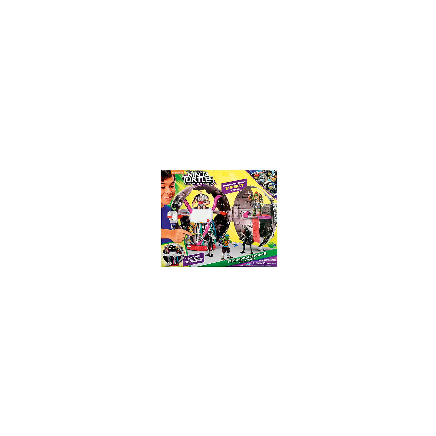 Игровой набор Технодром, Черепашки НиндзяТехнодром, Черепашки Ниндзя - увлекательный игровой набор, который не оставит равнодушным Вашего ребенка. Технодром выполнен в форме полого сферического танка, а его дизайн скопирован из популярного мультсериала Черепашки ниндзя (Teenage Mutant Ninja Turtles) о приключениях фантастических черепашек-мутантов. По сюжету, технодром был спроектирован инопланетянином Крэнгом, который вместе с противником черепашек Шредером пытается завоевать мир. Эта настоящая передвижная крепость содержит множество сюрпризов, ловушек и хитрых приспособлений. Внутри Вы найдете потайные двери, люки и ракетные пусковые установки со снарядами. По секретному трапу можно спускать вниз фигурки героев (черепашки в комплект не входят, приобретаются отдельно!). Игрушка раздвигается в ширину, создавая новые игровые возможности для приключений любимых героев. Набор изготовлен из ударопрочного высококачественного пластика, поэтому прослужит долгое время.<br><br>Дополнительная информация:<br><br>- Материал: пластик.<br>- Фигурки черепашек в комплект не входят!<br>- Диаметр игрушки: 50-60 см.<br>- Размер упаковки: 45 х 20 х 37 см. <br>- Вес: 1,15 кг.<br><br>Игровой набор Технодром, Черепашки Ниндзя, Movie Line, можно купить в нашем интернет-магазине.<br><br>Ширина мм: 450<br>Глубина мм: 370<br>Высота мм: 200<br>Вес г: 2300<br>Возраст от месяцев: 36<br>Возраст до месяцев: 144<br>Пол: Мужской<br>Возраст: Детский<br>SKU: 4657937