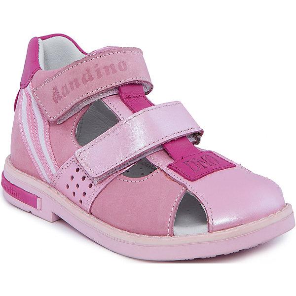 Сандалии для девочки DandinoОртопедическая обувь<br>Сандалии для девочки Dandino (Дандино).<br><br>Характеристики:<br><br>• цвет: розовый<br>• тип сандалей: закрытые<br>• сезон: весна-лето<br>• внешний материал: натуральная кожа<br>• подкладка: натуральная кожа<br>• подошва: полиуретан<br>• профилактическая модель<br>• ортопедические свойтсва<br>• жесткий задник<br>• стелька-супинатор<br>• застежка: липучки<br>• страна происхождения: Россия<br><br>Сандалии для девочки от известного бренда Dandino имеют жесткий задник, стельку-супинатор, способствующую профилактике плоскостопия и скошенный каблук, который предотвратит заваливание стопы внутрь. Сандалии застегиваются при помощи двух липучек. В этой обуви девочке будет очень удобно!<br><br>Сандалии для девочки Dandino (Дандино) можно купить в нашем интернет-магазине.<br>Ширина мм: 219; Глубина мм: 154; Высота мм: 121; Вес г: 343; Цвет: розовый; Возраст от месяцев: 72; Возраст до месяцев: 84; Пол: Женский; Возраст: Детский; Размер: 30,26,27,28,29; SKU: 4658257;