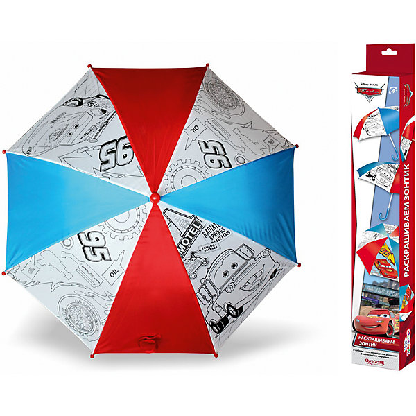 Зонтик для раскрашивания Молния МакКуин и Мэтр, ТачкиЗонты детские<br>Зонтик для раскрашивания  Молния МакКуин и Мэтр, Тачки от марки Origami<br><br>Отличный подарок для мальчика - зонтик с изображением любимых героев из мультфильма. Это яркий красивый аксессуар и платформа для творчества. Ребенок может сам раскрашивать изображения с помощью водостойких маркеров. В процессе развивается фантазия, улучшается мелкую моторику рук и координация движений.<br>Чтобы рисунок сохранялся долго и не растекался, ткань зонтика пропитана специальным составом. Нужно лишь подождать пару часов после раскрашивания - и зонтом можно пользоваться! Набор сделан из безопасных для ребенка материалов.<br><br>Особенности изделия:<br><br>диаметр - 68 см;<br>цвет - разноцветный;<br>механизм раскрытия  - не автоматический;<br>упаковка - картонная коробка;<br>вес - 314 гр;<br>размер упаковки - 65х10х5 см;<br>стойкие маркеры;<br>специальная пропитка ткани на зонте.<br><br>Комплектация: <br><br>зонт с контурным рисунком;<br>5 водостойких маркеров.<br><br>Зонтик для раскрашивания Молния МакКуин и Мэтр, Тачки от марки Origami можно купить в нашем магазине.<br><br>Ширина мм: 50<br>Глубина мм: 650<br>Высота мм: 100<br>Вес г: 314<br>Возраст от месяцев: 48<br>Возраст до месяцев: 144<br>Пол: Мужской<br>Возраст: Детский<br>SKU: 4658536