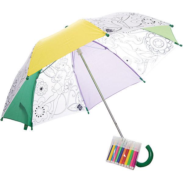 Зонтик для раскрашивания Динь-Динь с подругами, Феи ДиснейЗонты детские<br>Зонтик для раскрашивания Динь-Динь с подругами, Феи Дисней от марки Origami<br><br>Отличный подарок для девочки - зонтик с изображением любимых героев из мультфильма. Это яркий красивый аксессуар и платформа для творчества. Ребенок может сам раскрашивать изображения с помощью водостойких маркеров. . В процессе развивается фантазия, улучшается мелкую моторику рук и координация движений.<br>Чтобы рисунок сохранялся долго и не растекался, ткань зонтика пропитана специальным составом. Нужно лишь подождать пару часов после раскрашивания - и зонтом можно пользоваться! Набор сделан из безопасных для ребенка материалов.<br><br>Особенности изделия:<br><br>диаметр - 68 см;<br>цвет - разноцветный;<br>механизм раскрытия  - не автоматический;<br>упаковка - картонная коробка;<br>вес - 314 гр;<br>размер упаковки - 65х10х5 см;<br>стойкие маркеры;<br>специальная пропитка ткани на зонте.<br><br>Комплектация: <br><br>зонт с контурным рисунком;<br>5 водостойких маркеров.<br><br>Зонтик для раскрашивания Динь-Динь с подругами, Феи Дисней от марки Origami можно купить в нашем магазине.<br><br>Ширина мм: 50<br>Глубина мм: 650<br>Высота мм: 100<br>Вес г: 314<br>Возраст от месяцев: 48<br>Возраст до месяцев: 144<br>Пол: Женский<br>Возраст: Детский<br>SKU: 4658537