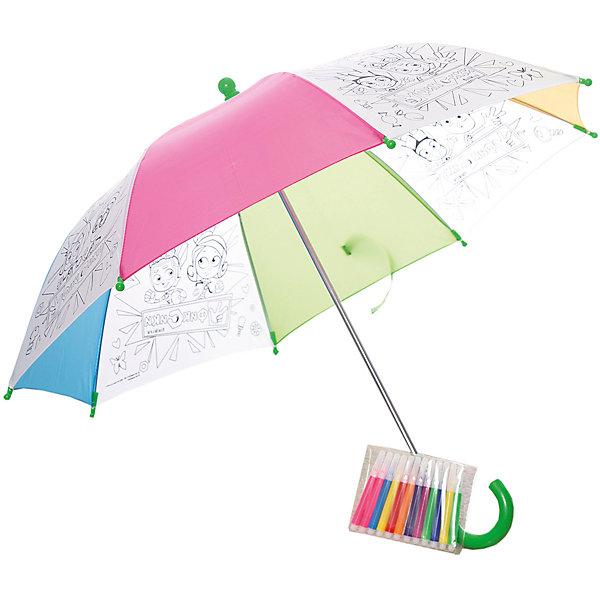 Зонтик для раскрашивания ФиксикиЗонты детские<br>Зонтик для раскрашивания  Фиксики от марки Origami<br><br>Отличный подарок для ребенка - зонтик с изображением любимых героев из мультфильма. Это яркий красивый аксессуар и платформа для творчества. Ребенок может сам раскрашивать изображения с помощью водостойких маркеров. В процессе развивается фантазия, улучшается мелкую моторику рук и координация движений.<br>Чтобы рисунок сохранялся долго и не растекался, ткань зонтика пропитана специальным составом. Нужно лишь подождать пару часов после раскрашивания - и зонтом можно пользоваться! Набор сделан из безопасных для ребенка материалов.<br><br>Особенности изделия:<br><br>диаметр - 67 см;<br>длина ручки - 56 см;<br>цвет - разноцветный;<br>механизм раскрытия  - не автоматический;<br>упаковка - картонная коробка;<br>вес - 314 гр;<br>размер упаковки - 65х10х5 см;<br>стойкие маркеры;<br>специальная пропитка ткани на зонте.<br><br>Комплектация: <br><br>зонт с контурным рисунком;<br>12 водостойких маркеров.<br><br>Зонтик для раскрашивания  Фиксики от марки Origami можно купить в нашем магазине.<br><br>Ширина мм: 50<br>Глубина мм: 650<br>Высота мм: 100<br>Вес г: 314<br>Возраст от месяцев: 48<br>Возраст до месяцев: 144<br>Пол: Унисекс<br>Возраст: Детский<br>SKU: 4658538