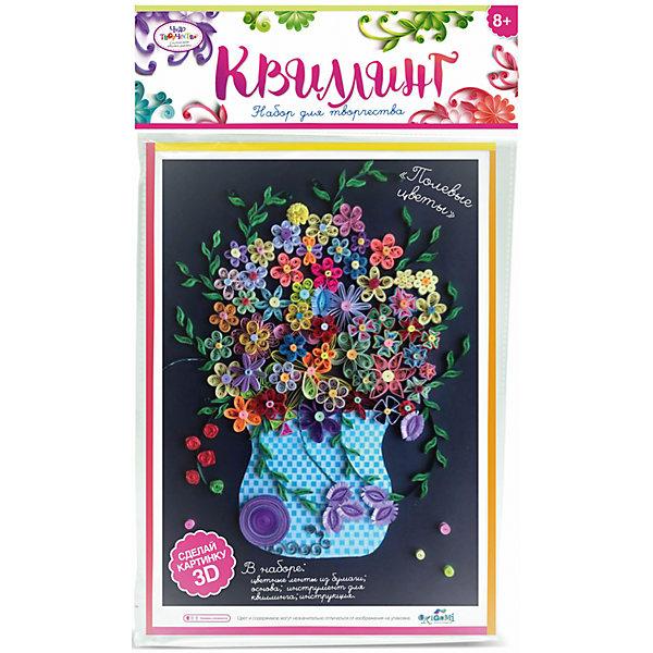 Набор для квиллинга «Полевые цветы»Бумага<br>Набор для квиллинга «Полевые цветы» от марки Origami<br><br>Замечательный подарок для ребенка - набор для творчества. Он поможет самостоятельно сделать объемную аппликацию из бумаги. Делается это очень просто, а в результате получается красивая картина. <br>В процессе у ребенка развивается воображение, художественный вкус и мелкая моторика. Получившийся результат поможет ему поверить в свои силы! Набор сделан из безопасных для ребенка материалов.<br><br>Особенности изделия:<br><br>состав - бумага, картон, дерево;<br>цвет - разноцветный;<br>упаковка - конверт с хедером;<br>размер упаковки - 0.5 x 36 x 21.5 см.<br><br>Комплектация: <br><br>основа-шаблон;<br>разноцветные бумажные ленты для квиллинга);<br>палочка для накручивания.<br><br>Набор для квиллинга «Полевые цветы» от марки Origami можно купить в нашем магазине.<br>Ширина мм: 215; Глубина мм: 360; Высота мм: 5; Вес г: 23; Возраст от месяцев: 96; Возраст до месяцев: 192; Пол: Женский; Возраст: Детский; SKU: 4658558;