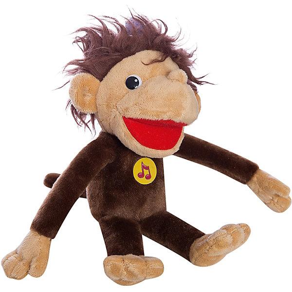 Мягкая игрушка Мартышка 38 попугаев, 28 см, со звуком, МУЛЬТИ-ПУЛЬТИМузыкальные мягкие игрушки<br>Мягкая игрушка Мартышка 38 попугаев со звуком от марки МУЛЬТИ-ПУЛЬТИ<br><br>Говорящая мягкая игрушка от отечественного производителя сделана в виде известного персонажа из мультфильма. Она поможет ребенку проводить время весело и с пользой. В игрушке есть встроенный звуковой модуль, который позволяет мартышке произносить фразы из мультфильма 38 попугаев.<br>Размер игрушки универсален - 28 сантиметров, её удобно брать с собой в поездки и на прогулку. Сделана мартышка из качественных и безопасных для ребенка материалов, которые еще и приятны на ощупь. <br><br>Отличительные особенности игрушки:<br><br>- материал: текстиль, пластик;<br>- звуковой модуль;<br>- язык: русский;<br>- произносит фразы из мультфильма;<br>- работает на батарейках;<br>- высота: 28 см.<br><br>Мягкую игрушку Мартышка 38 попугаев от марки МУЛЬТИ-ПУЛЬТИ можно купить в нашем магазине.<br><br>Ширина мм: 500<br>Глубина мм: 390<br>Высота мм: 420<br>Вес г: 150<br>Возраст от месяцев: 36<br>Возраст до месяцев: 84<br>Пол: Унисекс<br>Возраст: Детский<br>SKU: 4659467