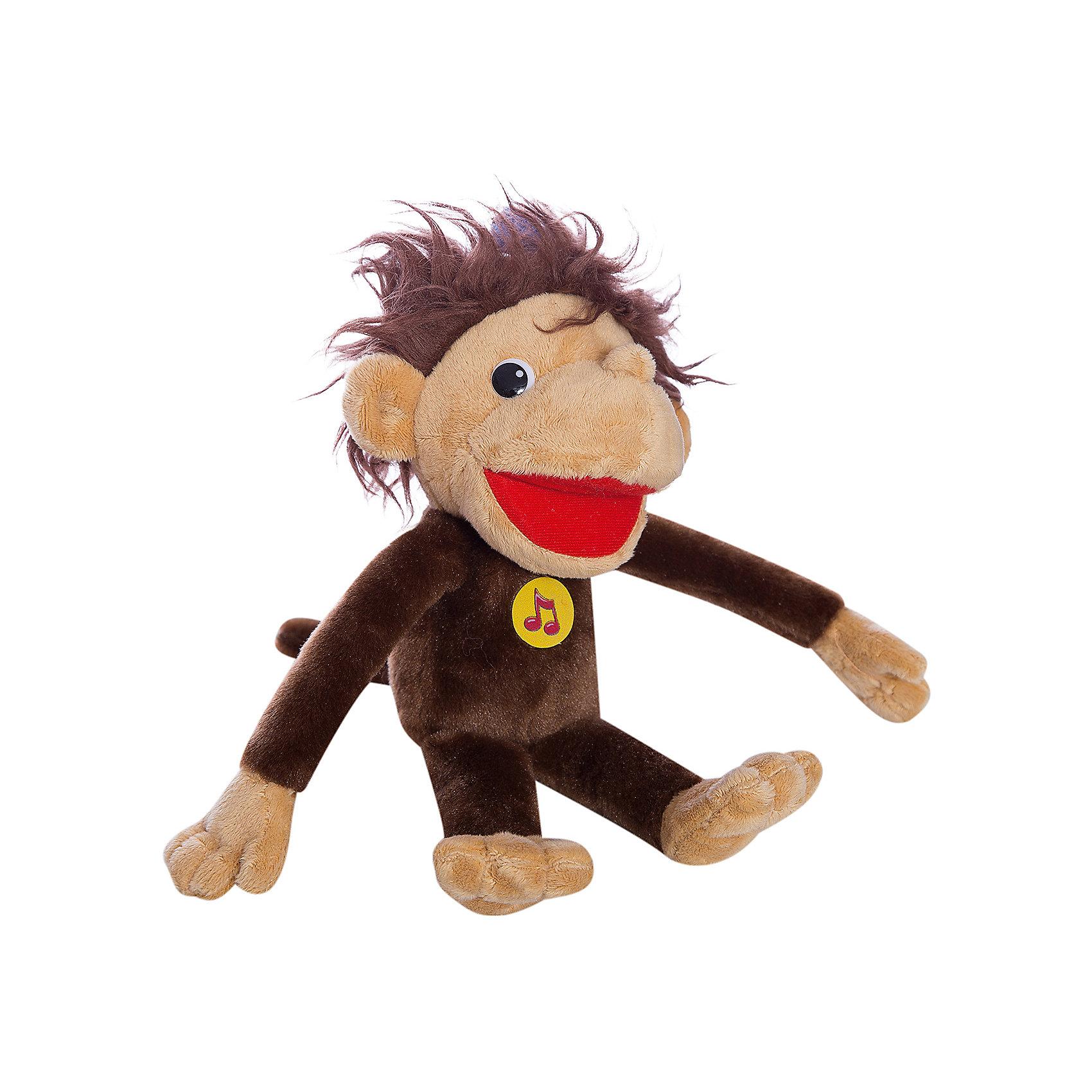 Мягкая игрушка Мартышка 38 попугаев, 28 см, со звуком, МУЛЬТИ-ПУЛЬТИЛюбимые герои<br>Мягкая игрушка Мартышка 38 попугаев со звуком от марки МУЛЬТИ-ПУЛЬТИ<br><br>Говорящая мягкая игрушка от отечественного производителя сделана в виде известного персонажа из мультфильма. Она поможет ребенку проводить время весело и с пользой. В игрушке есть встроенный звуковой модуль, который позволяет мартышке произносить фразы из мультфильма 38 попугаев.<br>Размер игрушки универсален - 28 сантиметров, её удобно брать с собой в поездки и на прогулку. Сделана мартышка из качественных и безопасных для ребенка материалов, которые еще и приятны на ощупь. <br><br>Отличительные особенности игрушки:<br><br>- материал: текстиль, пластик;<br>- звуковой модуль;<br>- язык: русский;<br>- произносит фразы из мультфильма;<br>- работает на батарейках;<br>- высота: 28 см.<br><br>Мягкую игрушку Мартышка 38 попугаев от марки МУЛЬТИ-ПУЛЬТИ можно купить в нашем магазине.<br><br>Ширина мм: 500<br>Глубина мм: 390<br>Высота мм: 420<br>Вес г: 150<br>Возраст от месяцев: 36<br>Возраст до месяцев: 84<br>Пол: Унисекс<br>Возраст: Детский<br>SKU: 4659467