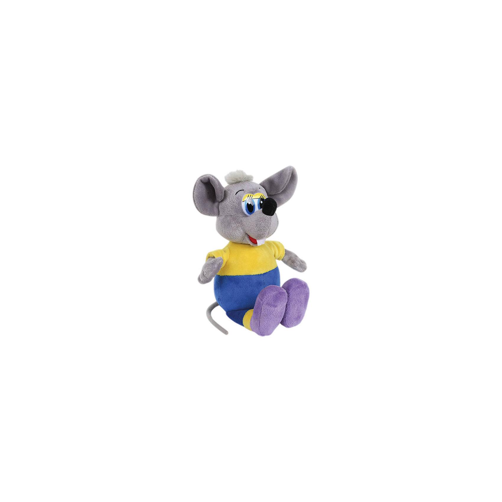 МУЛЬТИ-ПУЛЬТИ Мягкая игрушка Серый мышонок, 23 см, со звуком, Кот Леопольд, МУЛЬТИ-ПУЛЬТИ мульти пульти мягкая игрушка чебурашка со звуком мульти пульти