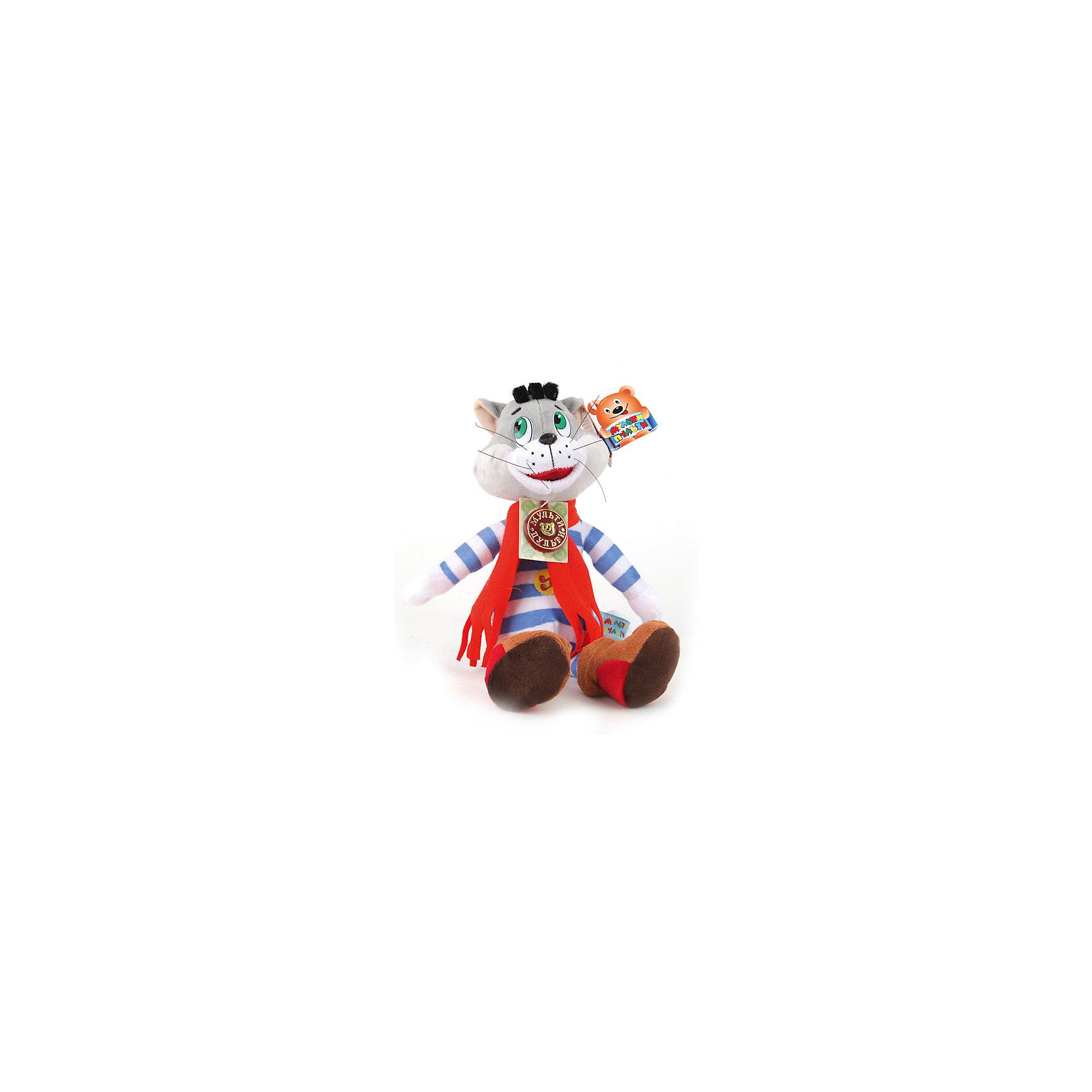 МУЛЬТИ-ПУЛЬТИ Мягкая игрушка  Матроскин, со звуком, Трое из Простоквашино, МУЛЬТИ-ПУЛЬТИ мульти пульти мягкая игрушка серый мышонок 23 см со звуком кот леопольд мульти пульти