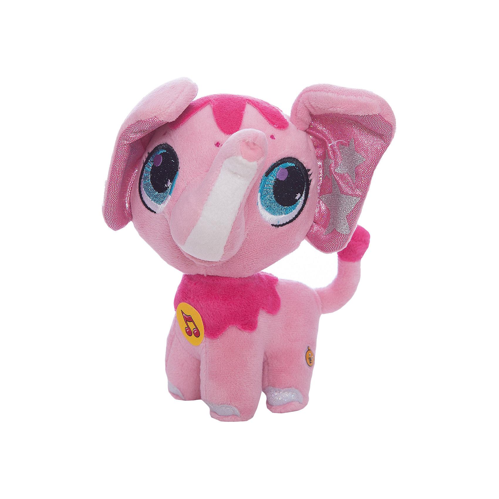 Мягкая игрушка  Слоник, 16 см, со звуком, МУЛЬТИ-ПУЛЬТИЗвери и птицы<br>Мягкая игрушка Слоник со звуком от марки МУЛЬТИ-ПУЛЬТИ<br><br>Очаровательная мягкая игрушка от отечественного производителя сделана в виде симпатичного яркого слоника. Она поможет ребенку проводить время весело и с пользой. В игрушке есть встроенный звуковой модуль, работающий на батарейках.<br>Размер игрушки универсален - 16 сантиметров, её удобно брать с собой в поездки и на прогулку. Сделана она из качественных и безопасных для ребенка материалов, которые еще и приятны на ощупь. <br><br>Отличительные особенности  игрушки:<br><br>- материал: текстиль, пластик;<br>- звуковой модуль;<br>- язык: русский;<br>- работает на батарейках;<br>- высота: 16 см.<br><br>Мягкую игрушку Слоник от марки МУЛЬТИ-ПУЛЬТИ можно купить в нашем магазине.<br><br>Ширина мм: 260<br>Глубина мм: 340<br>Высота мм: 320<br>Вес г: 110<br>Возраст от месяцев: 36<br>Возраст до месяцев: 84<br>Пол: Унисекс<br>Возраст: Детский<br>SKU: 4659483