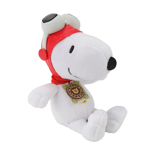 Мягкая игрушка  Снупи, 23 см, со звуком, МУЛЬТИ-ПУЛЬТИСимвол года<br>Мягкая игрушка Снупи со звуком от марки МУЛЬТИ-ПУЛЬТИ<br><br>Интерактивная мягкая игрушка от отечественного производителя поможет ребенку проводить время весело и с пользой. Она сделана в виде героя из известного любимого детьми мультфильма. В игрушке есть встроенный звуковой модуль, работающий на батарейках. <br>Размер игрушки - 23 сантиметра, её удобно брать с собой в поездки и на прогулку. Одет Снупи в яркую шапку. Сделан он из качественных и безопасных для ребенка материалов. <br><br>Отличительные особенности игрушки:<br><br>- материал: текстиль, пластик;<br>- звуковой модуль;<br>- язык: русский;<br>- работает на батарейках;<br>- высота: 23 см.<br><br>Мягкую игрушку Снупи со звуком от марки МУЛЬТИ-ПУЛЬТИ можно купить в нашем магазине.<br>Ширина мм: 380; Глубина мм: 450; Высота мм: 400; Вес г: 420; Возраст от месяцев: 36; Возраст до месяцев: 84; Пол: Унисекс; Возраст: Детский; SKU: 4659484;