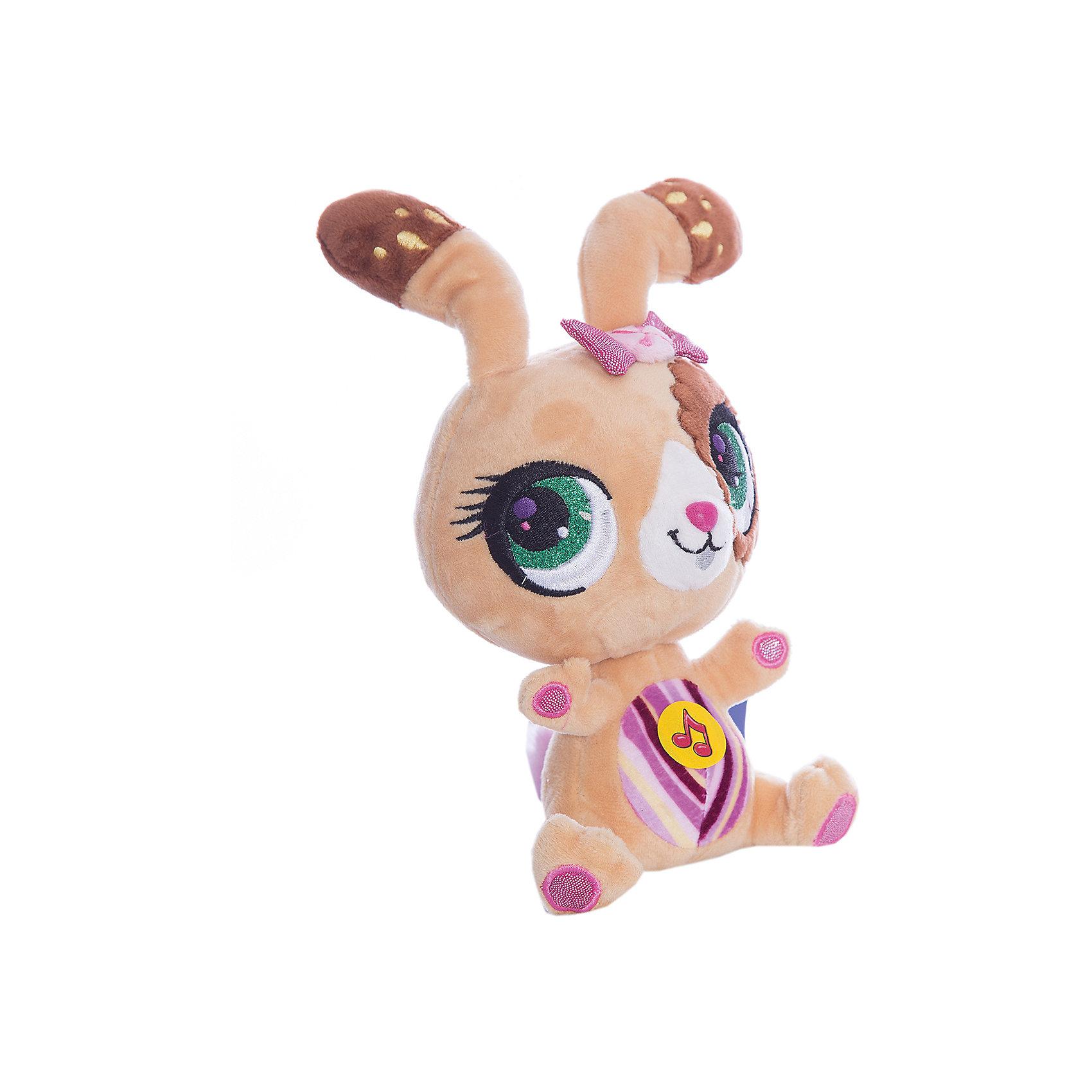 МУЛЬТИ-ПУЛЬТИ Мягкая игрушка  Кролик, 17 см, со звуком, МУЛЬТИ-ПУЛЬТИ мульти пульти мягкая игрушка чебурашка со звуком мульти пульти