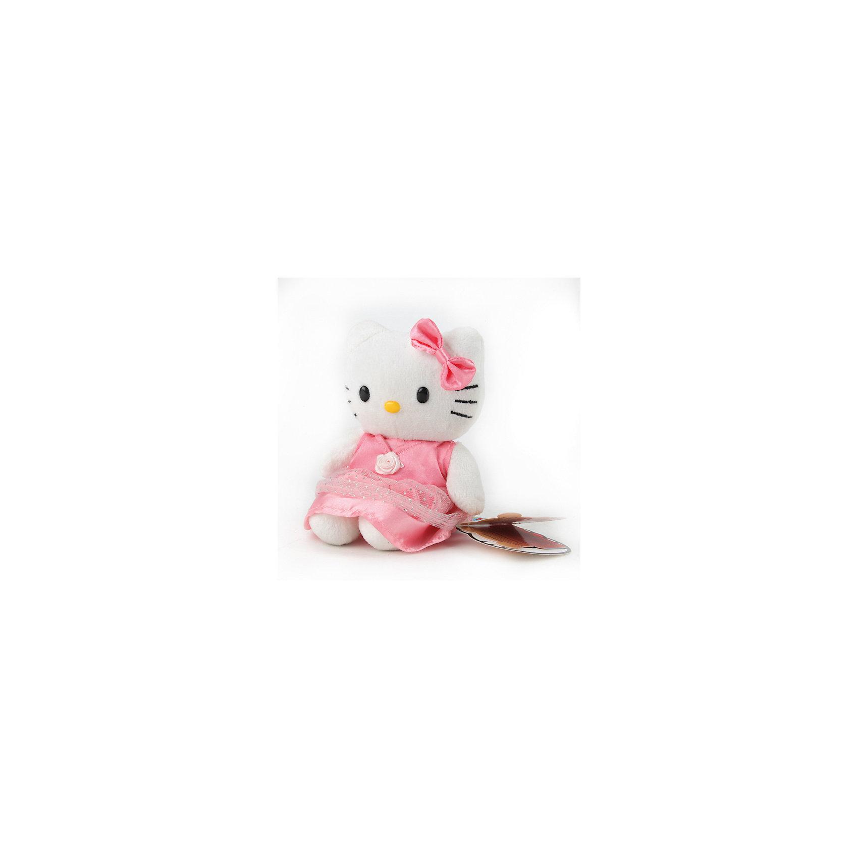 Мягкая игрушка  Hello Kitty, 14 см, со звуком, МУЛЬТИ-ПУЛЬТИМягкая игрушка Hello Kitty со звуком от марки МУЛЬТИ-ПУЛЬТИ<br><br>Симпатичная мягкая игрушка от отечественного производителя поможет ребенку проводить время весело и с пользой. Она сделана в виде известного героя - милой кошечки. В игрушке есть встроенный звуковой модуль, работающий на батарейках. Она говорит 6 разных фраз.<br>Размер игрушки - 14 сантиметра, её удобно брать с собой в поездки и на прогулку. Одет Снупи в яркую шапку. Сделан он из качественных и безопасных для ребенка материалов. <br><br>Отличительные особенности игрушки:<br><br>- материал: текстиль, пластик;<br>- звуковой модуль;<br>- язык: русский;<br>- работает на батарейках;<br>- высота: 14 см.<br><br>Мягкую игрушку Hello Kitty со звуком от марки МУЛЬТИ-ПУЛЬТИ можно купить в нашем магазине.<br><br>Ширина мм: 280<br>Глубина мм: 280<br>Высота мм: 280<br>Вес г: 210<br>Возраст от месяцев: 36<br>Возраст до месяцев: 84<br>Пол: Женский<br>Возраст: Детский<br>SKU: 4659493