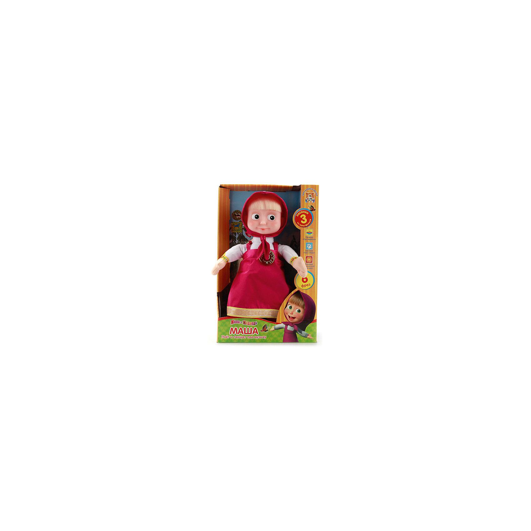 МУЛЬТИ-ПУЛЬТИ Мягкая игрушка  Маша танцует, 30 см, со звуком, Маша и Медведь, МУЛЬТИ-ПУЛЬТИ карапуз кукла маша 15 см со звуком маша и медведь карапуз