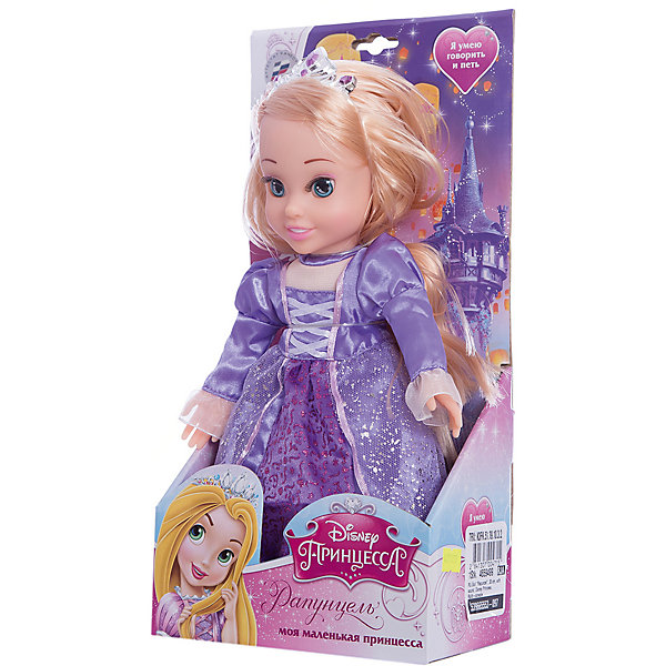 Кукла Рапунцель, 30 см, со звуком, Disney Princess, МУЛЬТИ-ПУЛЬТИМузыкальные мягкие игрушки<br>Кукла Рапунцель со звуком от марки МУЛЬТИ-ПУЛЬТИ<br><br>Интерактивная кукла от отечественного производителя поможет ребенку проводить время весело и с пользой. Она сделана в виде принцессы из известной любимой детьми сказки. Нажав на нее, ребенок услышит разные фразы. Красивые волосы можно расчесывать.<br>Размер куклы универсален - 30 сантиметров, её удобно брать с собой в поездки и на прогулку. Сделана игрушка из качественных и безопасных для ребенка материалов: тело - мягкое, голова - пластмассовая. <br><br>Отличительные особенности игрушки:<br><br>- материал: текстиль, наполнитель, пластик, металл;<br>- звуковой модуль;<br>- язык: русский;<br>- волосы можно расчесывать;<br>- работает на батарейках;<br>- упаковка: коробка;<br>- высота: 30 см.<br><br>Куклу Рапунцель со звуком от марки МУЛЬТИ-ПУЛЬТИ можно купить в нашем магазине.<br>Ширина мм: 750; Глубина мм: 650; Высота мм: 380; Вес г: 450; Возраст от месяцев: 36; Возраст до месяцев: 84; Пол: Женский; Возраст: Детский; SKU: 4659499;