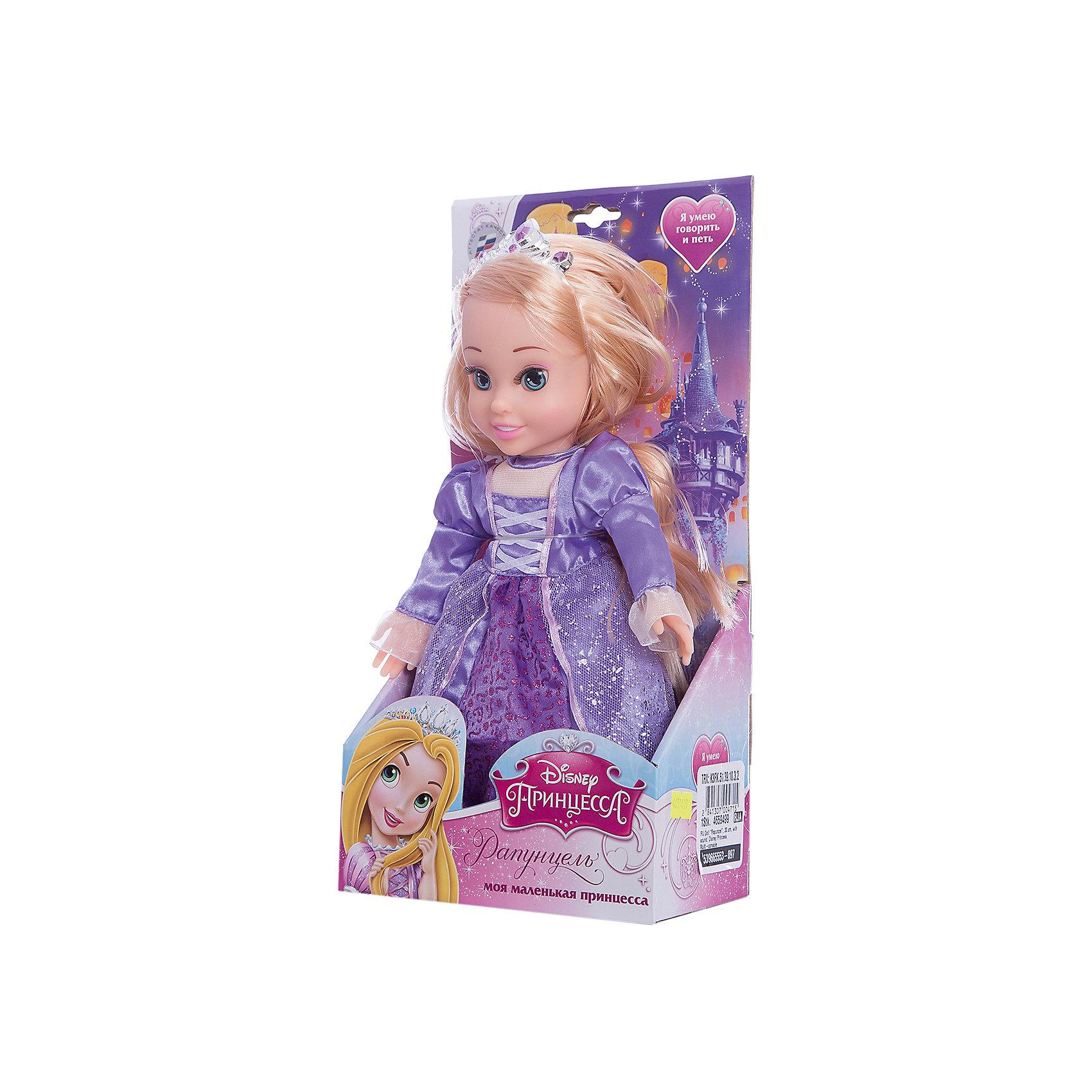 МУЛЬТИ-ПУЛЬТИ Кукла Рапунцель, 30 см, со звуком, Disney Princess, МУЛЬТИ-ПУЛЬТИ мульти пульти мягкая игрушка заяц топотун со звуком disney мульти пульти
