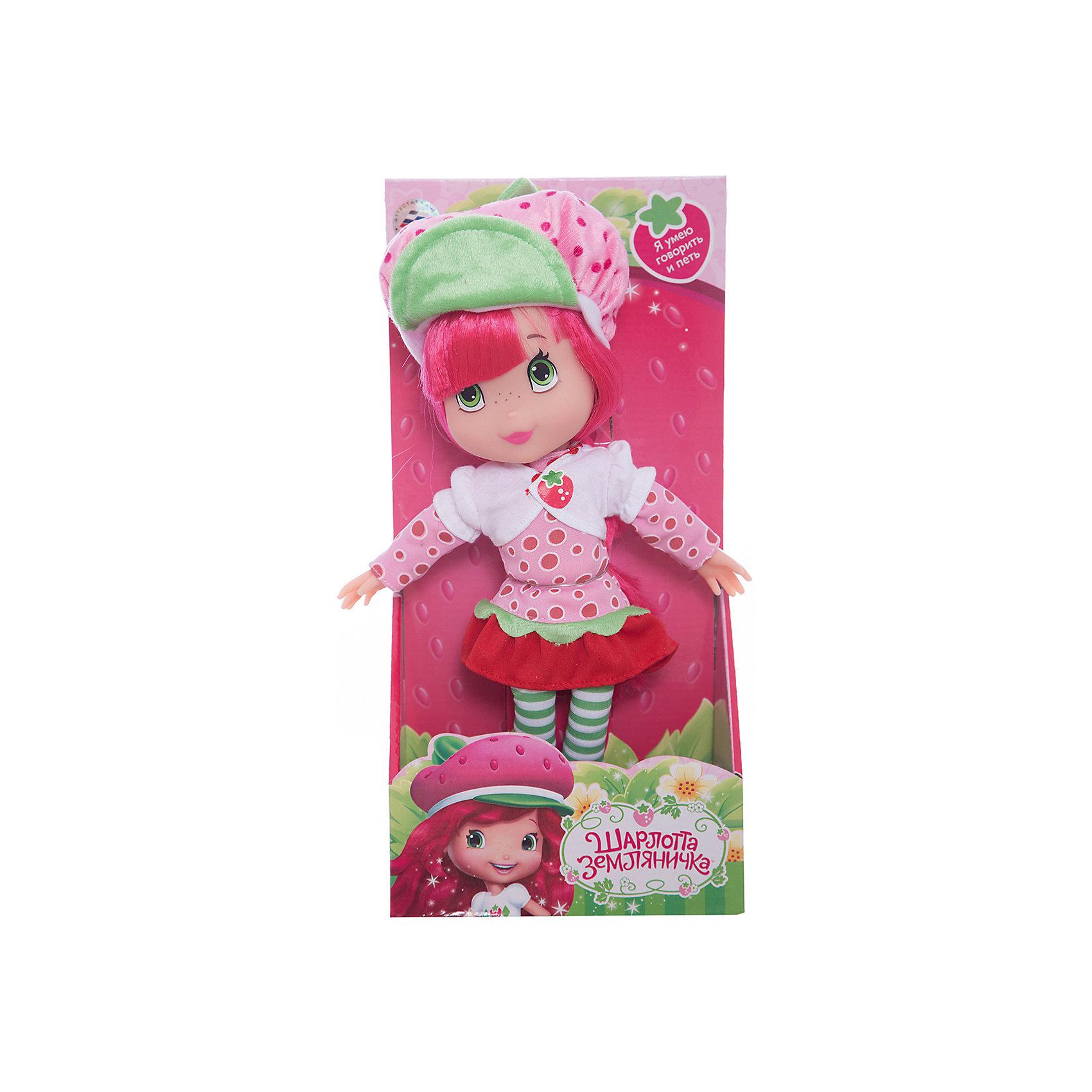 Кукла Шарлотта Земляничка, 30 см, со звуком, МУЛЬТИ-ПУЛЬТИОзвученные мягкие игрушки<br>Кукла Strawberry Shortcake со звуком от марки МУЛЬТИ-ПУЛЬТИ<br><br>Интерактивная кукла от отечественного производителя поможет ребенку проводить время весело и с пользой. Она сделана в виде героя из известного любимого детьми мультфильма. В кукле - звуковой модуль. <br>Размер куклы универсален - 30 сантиметров, её удобно брать с собой в поездки и на прогулку. Она очень яркая, красиво одета. Сделана игрушка из качественных и безопасных для ребенка материалов: тело - мягкое, голова - пластмассовая. <br><br>Отличительные особенности игрушки:<br><br>- материал: текстиль, наполнитель, пластик, металл;<br>- звуковой модуль;<br>- работает на батарейках;<br>- упаковка: коробка;<br>- высота: 30 см.<br><br>Куклу Strawberry Shortcake со звуком от марки МУЛЬТИ-ПУЛЬТИ можно купить в нашем магазине.<br><br>Ширина мм: 660<br>Глубина мм: 770<br>Высота мм: 410<br>Вес г: 500<br>Возраст от месяцев: 36<br>Возраст до месяцев: 84<br>Пол: Женский<br>Возраст: Детский<br>SKU: 4659500