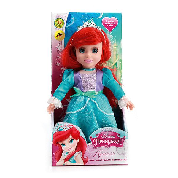Кукла Ариэль, 30 см, со звуком, Disney Princess, МУЛЬТИ-ПУЛЬТИМягкие игрушки из мультфильмов<br>Кукла Ариэль со звуком от марки МУЛЬТИ-ПУЛЬТИ<br><br>Интерактивная кукла от отечественного производителя поможет ребенку проводить время весело и с пользой. Она сделана в виде принцессы из известной любимой детьми сказки. Красивые волосы можно расчесывать.<br>Размер куклы универсален - 30 сантиметров, её удобно брать с собой в поездки и на прогулку. Сделана игрушка из качественных и безопасных для ребенка материалов: тело - мягкое, голова - пластмассовая. <br><br>Отличительные особенности игрушки:<br><br>- материал: текстиль, наполнитель, пластик, металл;<br>- звуковой модуль;<br>- волосы можно расчесывать;<br>- работает на батарейках;<br>- упаковка: коробка;<br>- высота: 30 см.<br><br>Куклу Ариэль со звуком от марки МУЛЬТИ-ПУЛЬТИ можно купить в нашем магазине.<br>Ширина мм: 750; Глубина мм: 650; Высота мм: 380; Вес г: 430; Возраст от месяцев: 36; Возраст до месяцев: 84; Пол: Женский; Возраст: Детский; SKU: 4659502;
