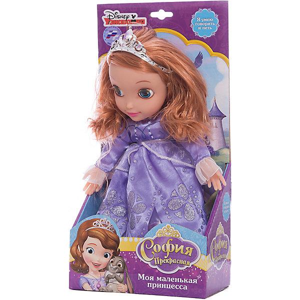 Кукла Принцесса София, 30 см, со звуком, Disney Princess, МУЛЬТИ-ПУЛЬТИМягкие игрушки из мультфильмов<br>Мягкая игрушка Принцесса София со звуком от марки МУЛЬТИ-ПУЛЬТИ<br><br>Очаровательная игрушка от отечественного производителя сделана в виде известного персонажа из мультфильма. Она поможет ребенку проводить время весело и с пользой. В игрушке есть встроенный звуковой модуль, работающий на батарейках.<br>Размер игрушки универсален - 30 сантиметров, её удобно брать с собой в поездки и на прогулку. Сделана она из качественных и безопасных для ребенка материалов, которые еще и приятны на ощупь. <br><br>Отличительные особенности  игрушки:<br><br>- материал: текстиль, пластик;<br>- звуковой модуль;<br>- волосы расчесываются;<br>- работает на батарейках;<br>- высота: 30 см.<br><br>Мягкую игрушку Принцесса София от марки МУЛЬТИ-ПУЛЬТИ можно купить в нашем магазине.<br><br>Ширина мм: 650<br>Глубина мм: 380<br>Высота мм: 750<br>Вес г: 440<br>Возраст от месяцев: 36<br>Возраст до месяцев: 84<br>Пол: Женский<br>Возраст: Детский<br>SKU: 4659505
