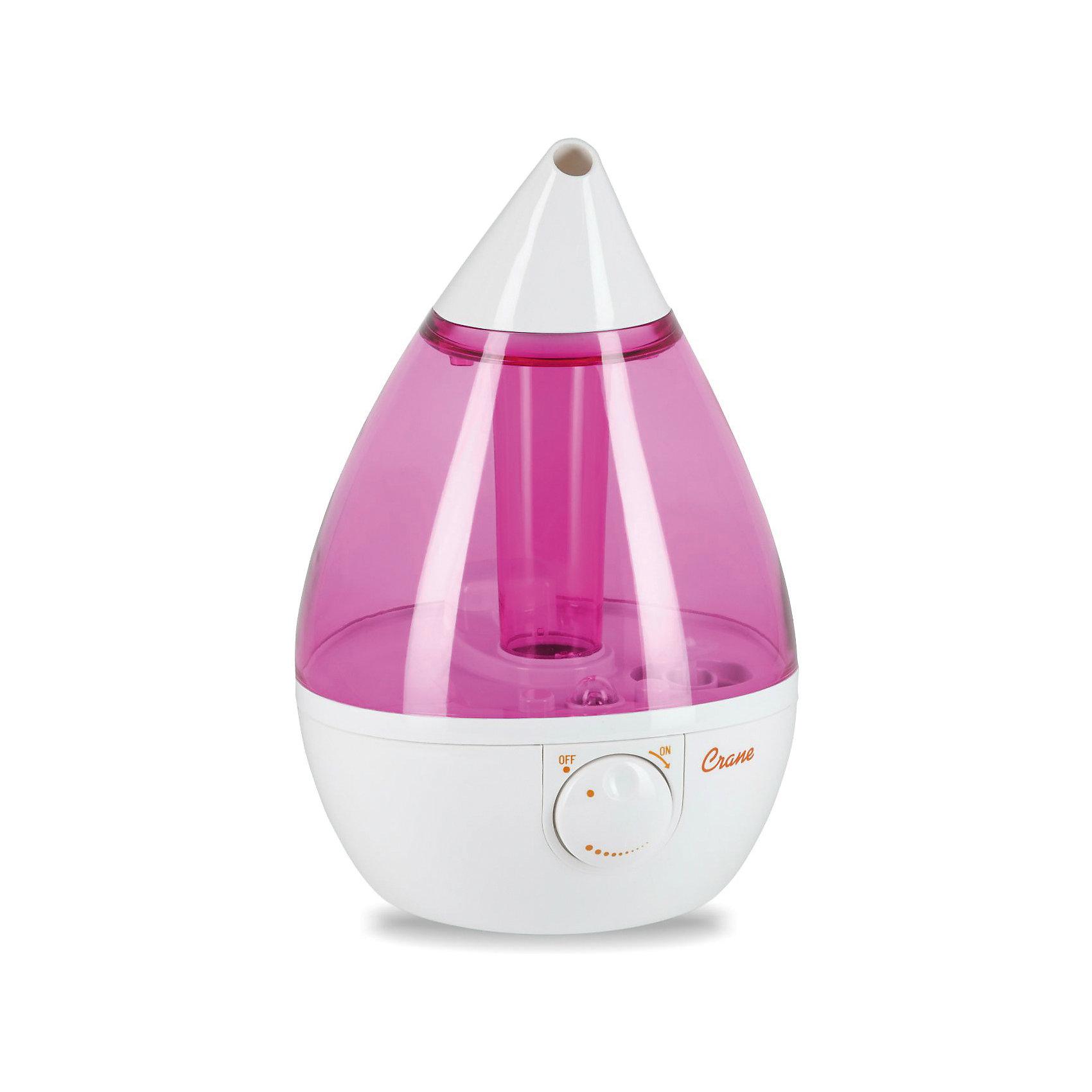 Увлажнитель воздуха ультразвуковой КАПЛЯ Crane, бело-розовыйДополнительная информация:<br><br><br>Площадь обслуживания до: 23 кв. м<br>Производительность по увлажнению до: 8,7 л/сутки<br>Регулировка интенсивности испарения: есть<br>Объем бака для воды: 3,3 л<br>Автоматическое отключение: есть<br>Уровень шума: до 37 дБ<br>Потребление электроэнергии:  19 Вт<br>Напряжение в сети: 100-240В ~ 50/60Гц<br>Материал: Пластик<br><br><br><br>Увлажнитель воздуха ультразвуковой КАПЛЯ Crane, бело-розовый можно купить в нашем магазине.<br><br>Ширина мм: 250<br>Глубина мм: 250<br>Высота мм: 345<br>Вес г: 2040<br>Цвет: белый/розовый<br>Возраст от месяцев: 0<br>Возраст до месяцев: 36<br>Пол: Унисекс<br>Возраст: Детский<br>SKU: 4659608