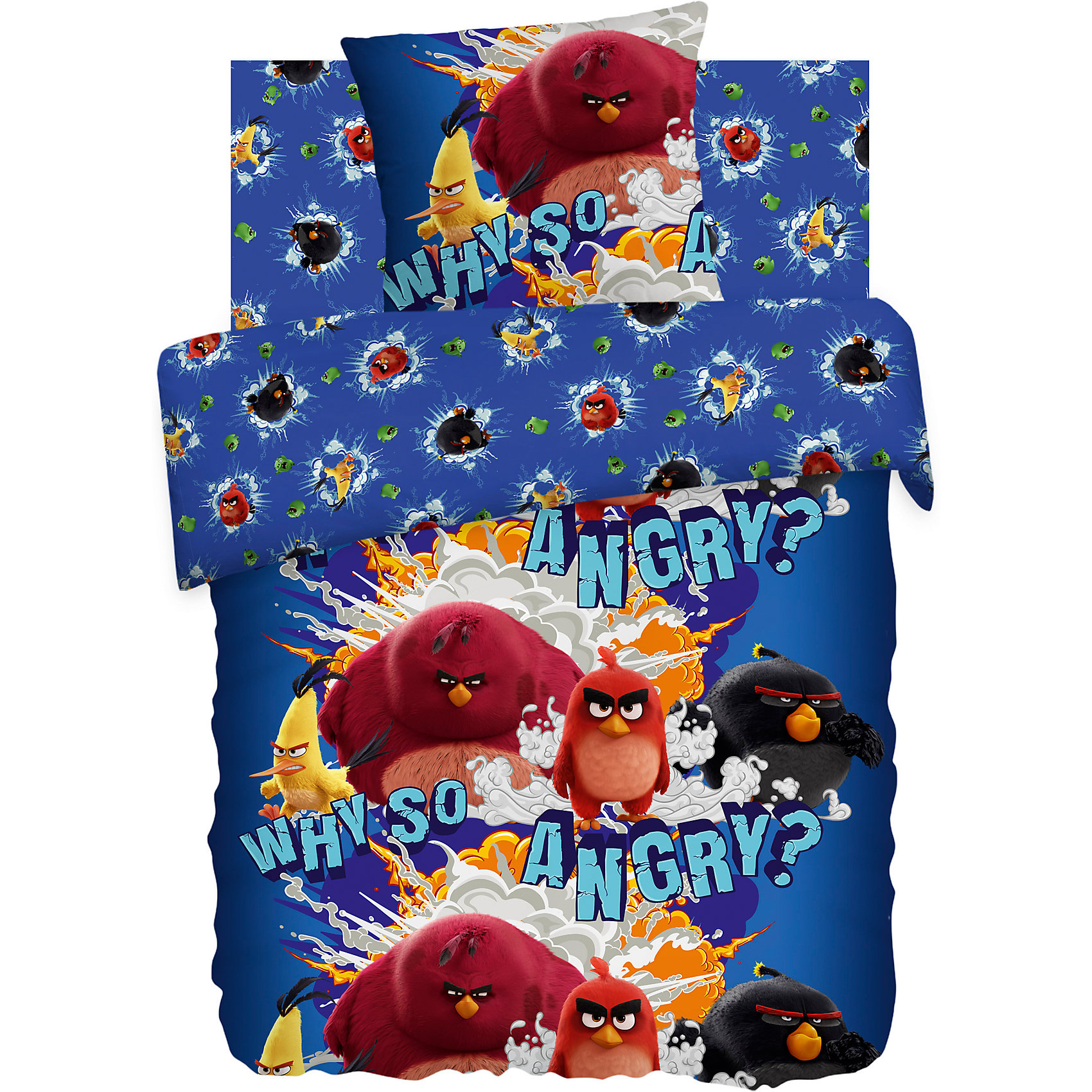 Комплект Why so angry?, Angry BirdsКомплект бязь Злые Птички от бренда Angry Birds <br><br>Этот комплект постельного белья создан специально для современных детей - любителей игры  Angry Birds. На нем изображены герои этой знаменитой игры и мультфильма. Смотрится очень эффектно! Такая расцветка обеспечит ребенку настрой на яркие волшебные сны.<br>Комплект сшит из натурального хлопка. Этот материал не вызывает аллергии и раздражения, позволяет коже дышать, обеспечивает комфорт во время сна, легко стирается. Размеры всех предметов - стандартные для полутораспального комплекта, отлично подойдут для детской кровати и спальных принадлежностей.<br><br>Особенности комплекта:<br><br>пододеяльник: 143*215 см (1 шт.);<br>простыня: 150*214 см (1 шт.);<br>наволочка: 70*70 см (1шт.)<br>ткань: бязь (100% хлопок).<br><br>Комплект бязь Злые Птички от бренда Angry Birds можно купить в нашем магазине<br><br>Ширина мм: 250<br>Глубина мм: 350<br>Высота мм: 70<br>Вес г: 1150<br>Возраст от месяцев: 36<br>Возраст до месяцев: 144<br>Пол: Унисекс<br>Возраст: Детский<br>SKU: 4660091