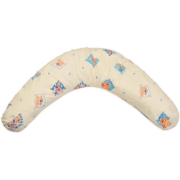Подушка для беременных Аура 190х37 Сладкий сон c холлофайбером, La Armada, бежевыйПодушки для беременных и кормящих мам<br>Многофункциональная подушка для беременных Аура подходит для сна, отдыха, а также для кормления ребенка. <br><br>Дополнительная информация:<br><br>Состав: чехол подушки и наволочка - 100% хлопок,  наполнитель - 100% полиэфирное волокно. <br>В комплект входит подушка и съемная наволочка из бязи на молнии. <br>Размеры подушки: длина по внешнему краю (в разложенном виде) - 190 см, ширина - 37 см. <br>Упаковка: сумка-чемодан + красочная этикетка.<br><br>Подушку для беременных Аура 190х37 Сладкий сон c холлофайбером, La Armada, бежевый можно купить в нашем магазине.<br><br>Ширина мм: 700<br>Глубина мм: 170<br>Высота мм: 400<br>Вес г: 2000<br>Цвет: бежевый<br>Возраст от месяцев: 0<br>Возраст до месяцев: 36<br>Пол: Унисекс<br>Возраст: Детский<br>SKU: 4660550