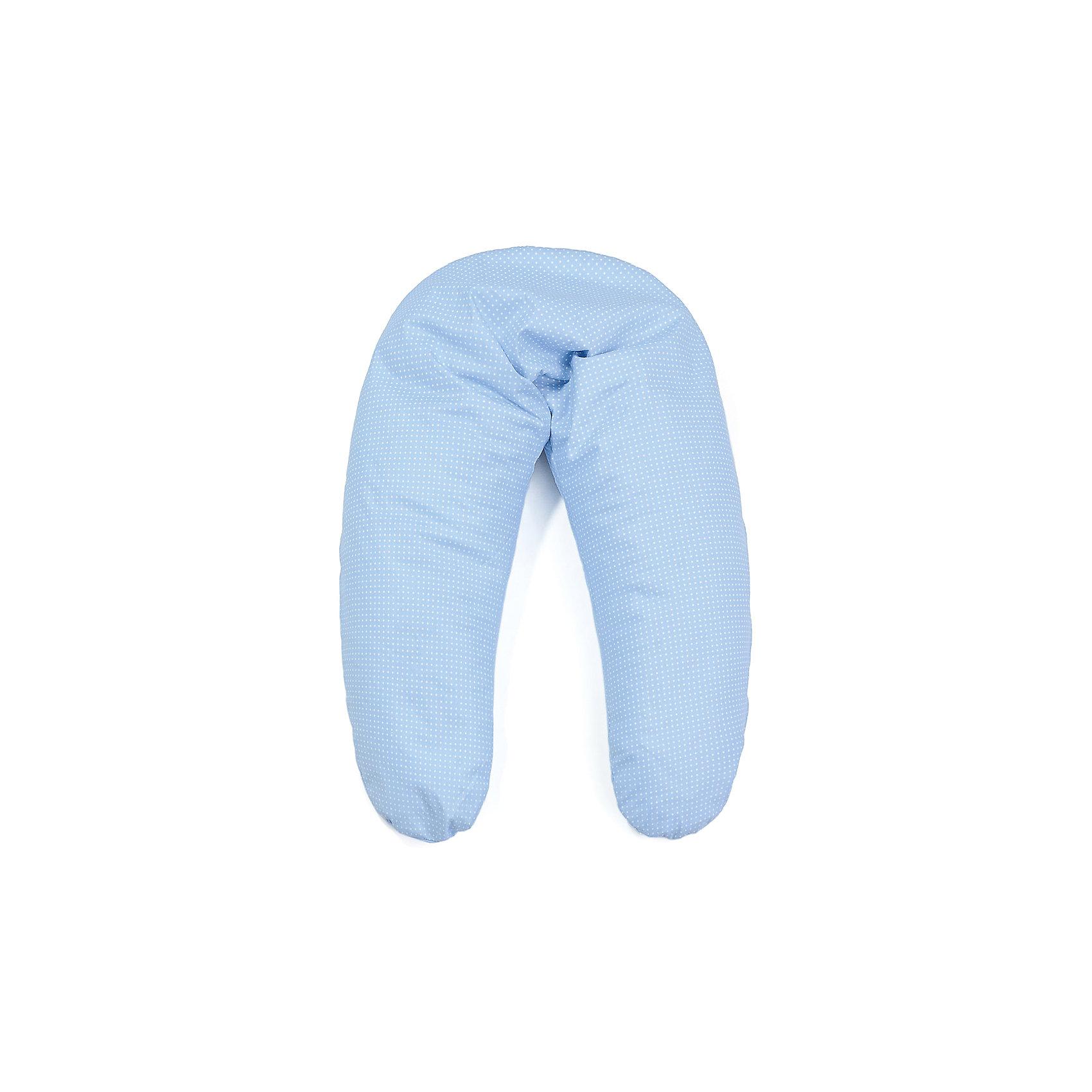 Подушка для беременных Аура 190х37 c холлофайбером, La Armada, голубой в горохМногофункциональная подушка для беременных Аура подходит для сна, отдыха, а также для кормления ребенка. <br><br>Дополнительная информация:<br><br>Состав: чехол подушки и наволочка - 100% хлопок,  наполнитель - 100% полиэфирное волокно. <br>В комплект входит подушка и съемная наволочка из бязи на молнии. <br>Размеры подушки: длина по внешнему краю (в разложенном виде) - 190 см, ширина - 37 см. <br>Упаковка: сумка-чемодан + красочная этикетка.<br><br>Подушку для беременных Аура 190х37 c холлофайбером, La Armada, голубой в горох  можно купить в нашем магазине.<br><br>Ширина мм: 700<br>Глубина мм: 170<br>Высота мм: 400<br>Вес г: 2000<br>Цвет: голубой/белый<br>Возраст от месяцев: 0<br>Возраст до месяцев: 36<br>Пол: Мужской<br>Возраст: Детский<br>SKU: 4660553