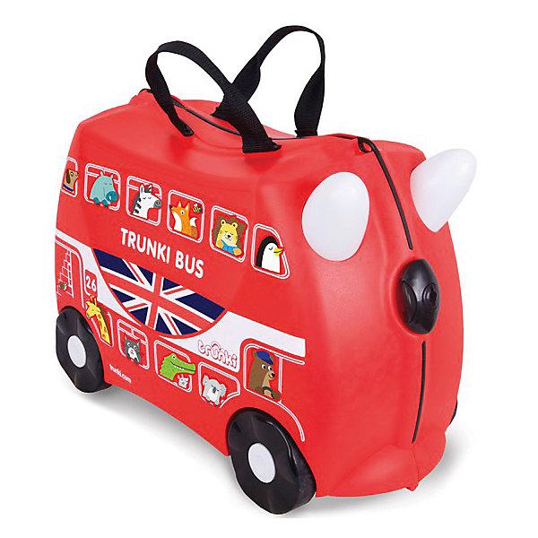 Чемодан на колесиках АвтобусДорожные сумки и чемоданы<br>Вместительный, удобный чемодан Автобус - замечательный вариант для маленьких путешественников. Оригинальный чемодан выполнен из прочного пластика в виде традиционного английского автобуса ярко-красного цвета с двумя этажами. Размеры позволяют брать его в самолет как ручную кладь. Чемоданчик может использоваться как детский стульчик и как оригинальное средство передвижения. Благодаря надежным колесикам, удобной конструкции седла и стабилизаторам малыш ездит на чемодане как на каталке, отталкиваясь ножками и держась за рожки. <br><br>Чемодан оснащен удобными ручками для переноски и надежным замком с ключиком. С помощью ручного буксировочного ремня автобус можно везти по полу или нести на плече. Внутри просторное двустворчатое отделение для одежды и дорожных принадлежностей с ремнями для фиксации одежды, а также потайные секретные отсеки для мелочей. Все детали выполнены из экологически чистых, безопасных для детского здоровья материалов. Собственный чемодан для путешествий позволит ребенку почувствовать себя взрослым и самостоятельным.<br><br>Дополнительная информация:<br><br>- Материал: высококачественный пластик.<br>- Объем: 18 л.<br>- Максимальная нагрузка: 45 кг.<br>- Кол-во колес: 4 колеса.<br>- Размер чемодана: 46 х 20,5 х 31 см.<br>- Вес: 1,7 кг.<br><br>Чемодан на колесиках Автобус, Trunki, можно купить в нашем интернет-магазине.<br>Ширина мм: 460; Глубина мм: 210; Высота мм: 310; Вес г: 1700; Возраст от месяцев: 36; Возраст до месяцев: 72; Пол: Унисекс; Возраст: Детский; SKU: 4660581;