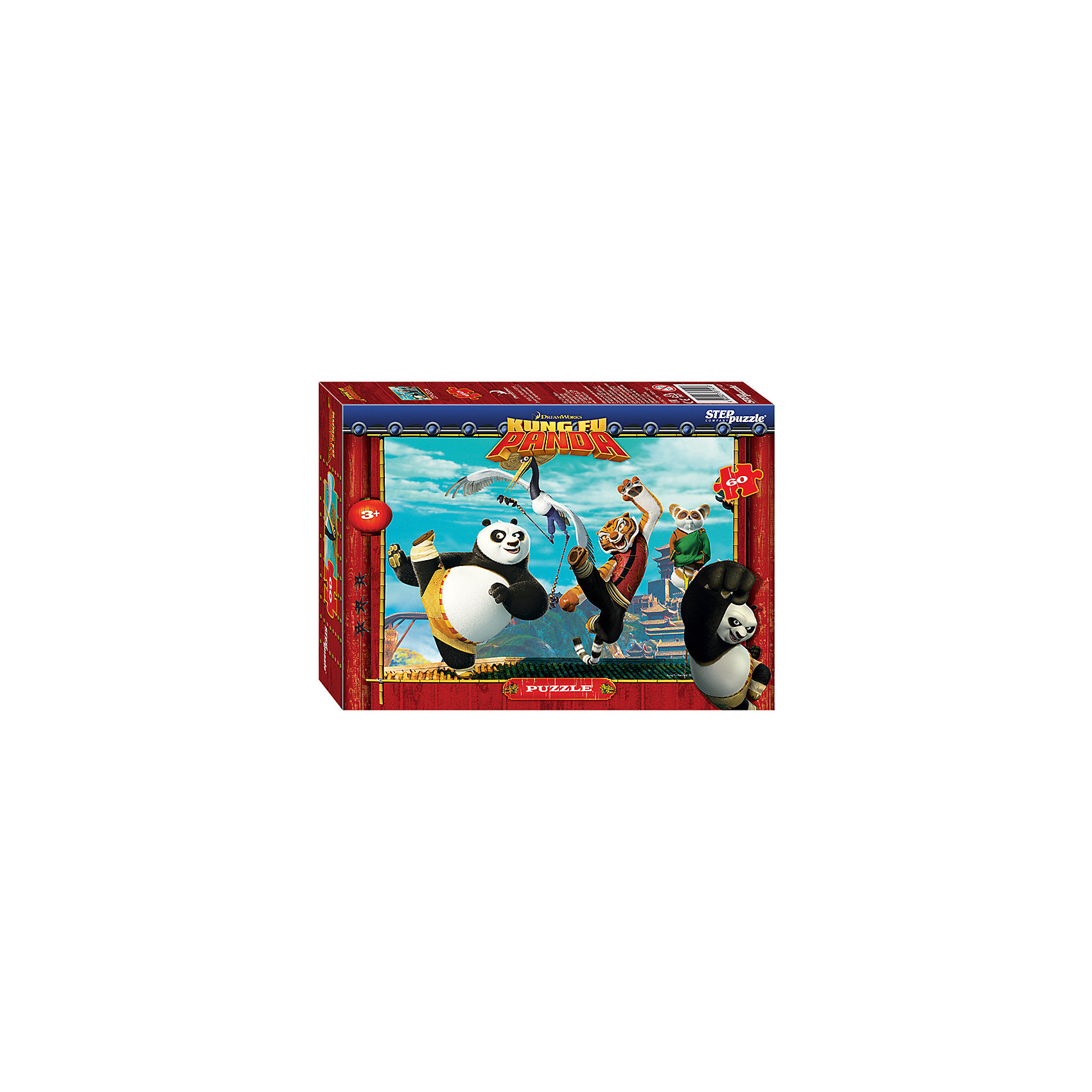 Степ Пазл Пазл Кунг-фу Панда, 60 деталей, Step Puzzle кристальный пазл 3d crystal puzzle панда