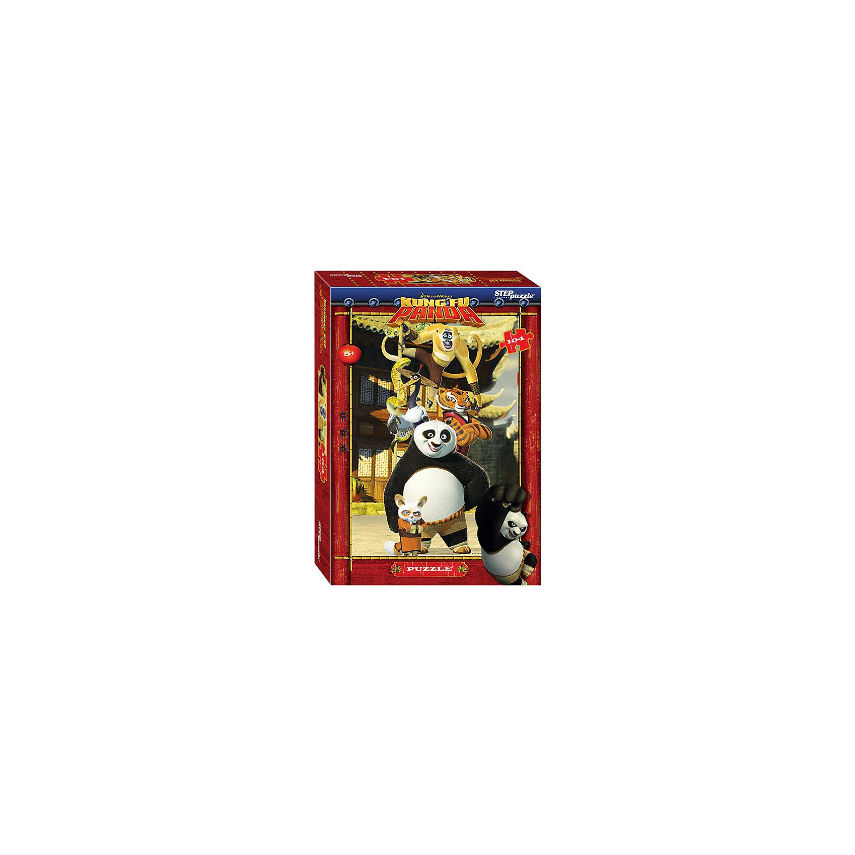 Степ Пазл Пазл Кунг-фу Панда, 104 детали, Step Puzzle купить газ 66 кунг в краснодарском крае