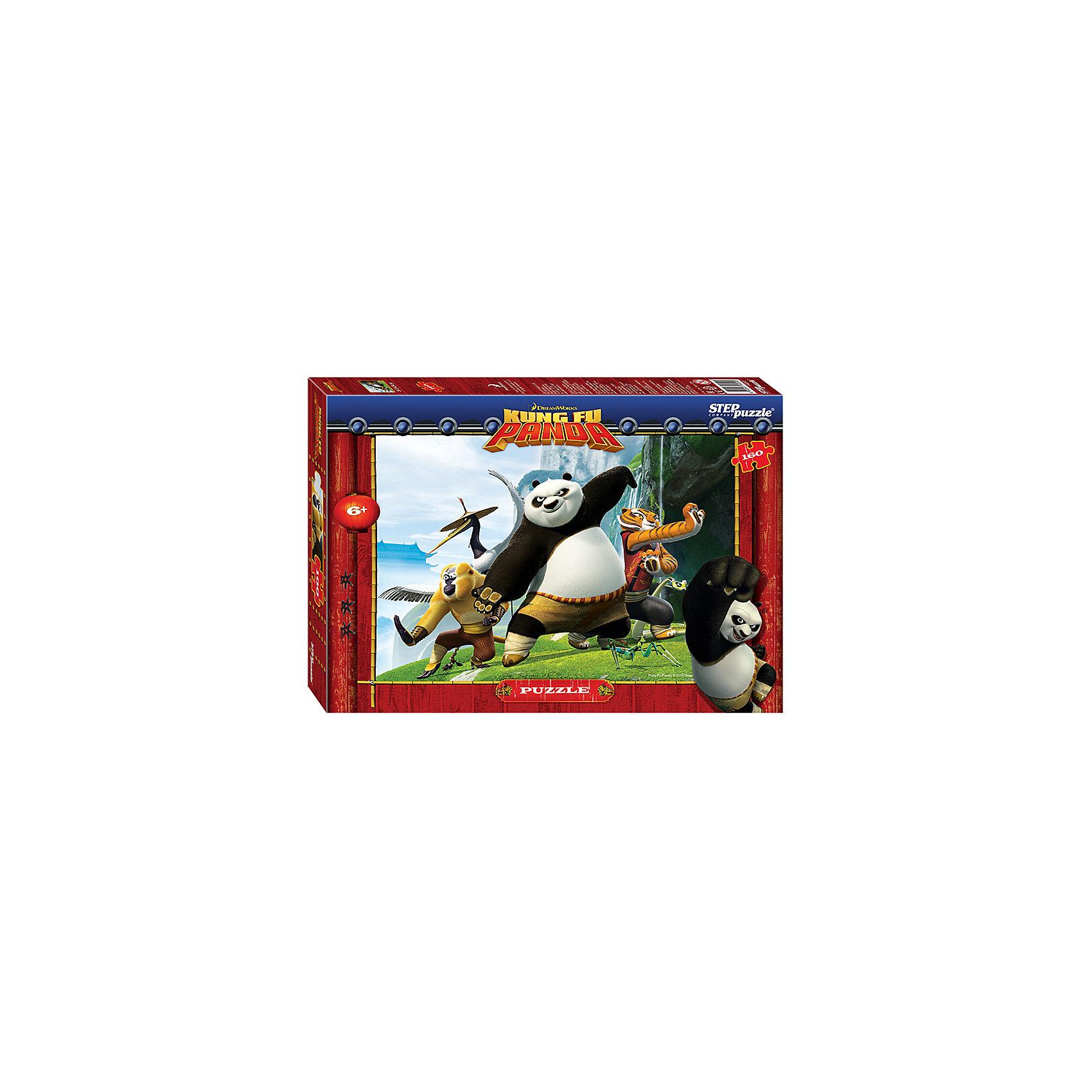 Степ Пазл Пазл Кунг-фу Панда, 160 деталей, Step Puzzle кристальный пазл 3d crystal puzzle панда
