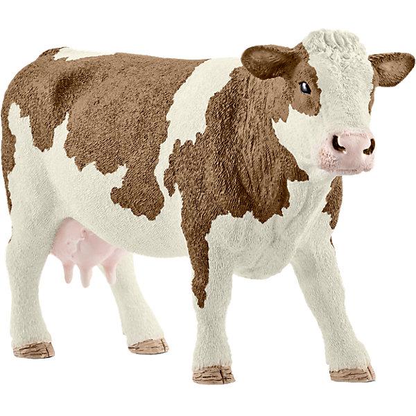 Симментальская короваМир животных<br>Характеристики:<br><br>• возраст: от 3 лет;<br>• материал: каучуковый пластик;<br>• размер игрушки: 13х4х7,7 см;<br>• вес упаковки: 180 гр.;<br>• размер упаковки: 13х4х7,7 см;<br>• страна бренда: Германия.<br><br>Фигурка от бренда Schleich – детализированная копия Симментальской коровы. Фигурка с точностью передает особенности строения тела животного, внешний вид шерсти, характерную позу.<br><br>В изготовлении каждой фигурки «Шляйх» учитываются рекомендации педагогики для того, чтобы игрушка была интересна и полезна ребенку, комфортно располагалась в руках. Фигурка раскрашена вручную, сделана из прочных безопасных материалов, не вызывающих аллергию. Разработано при участии Берлинского зоопарка.<br><br>Фигурка подойдет для сюжетно-ролевых игр, а также может стать частью большой коллекции реалистичных копий животных Schleich.<br><br>Фигурку Schleich Симментальская корова можно купить в нашем интернет-магазине.<br>Ширина мм: 144; Глубина мм: 93; Высота мм: 43; Вес г: 177; Возраст от месяцев: 36; Возраст до месяцев: 96; Пол: Унисекс; Возраст: Детский; SKU: 4662500;