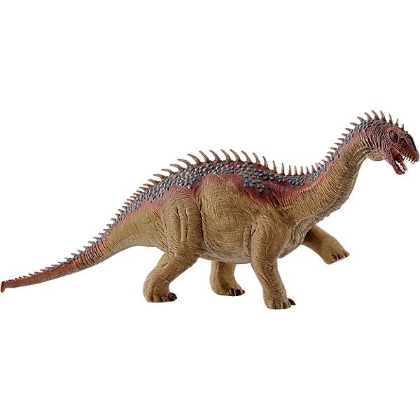 Барапазавр, SchleichМир животных<br>Барапазавр, Schleich – отличное пополнение коллекции фигурок юрского периода.<br>Если ребенок увлекается динозаврами, то Барапазавр станет отличным подарком для него. Такой вид динозавров жили 200 миллион лет назад. Фигурка в точности повторяет воспроизведенное строение Барапазавра. Изготовлена она из качественного материала, который безопасен для детей и не вызывает аллергии.<br><br>Дополнительная информация:<br><br>- возраст: от 3 лет<br>- материал: каучук, пластик<br>- размер: 32.6 х 7.6 х 11 см<br>- страна: Германия<br><br>Барапазавра, Schleich можно купить в нашем интернет магазине.<br>Ширина мм: 325; Глубина мм: 108; Высота мм: 84; Вес г: 573; Возраст от месяцев: 60; Возраст до месяцев: 144; Пол: Мужской; Возраст: Детский; SKU: 4662502;